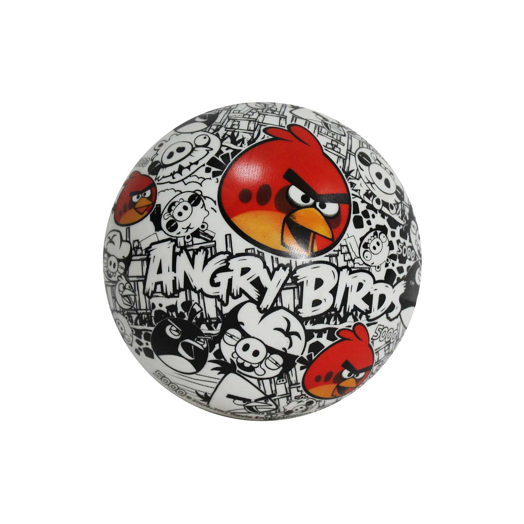 Мяч Винтаж (красно-бело-черный), 23 см, ПВХ, Angry BirdsЛетний ассортимент 1TOY пополнился новой коллекцией мячей ПВХ с дизайнами Angry Birds от всемирно известного бренда МОНДО. Надувной детский мяч с дизайном из компьютерной игры «Angry Birds» сделан из прочного и надежного материала, устойчивого к повреждениям, выцветанию, воздействию соленой воды. Размер мяча: 14 см.<br><br>Ширина мм: 230<br>Глубина мм: 230<br>Высота мм: 230<br>Вес г: 135<br>Возраст от месяцев: 36<br>Возраст до месяцев: 192<br>Пол: Унисекс<br>Возраст: Детский<br>SKU: 4767342