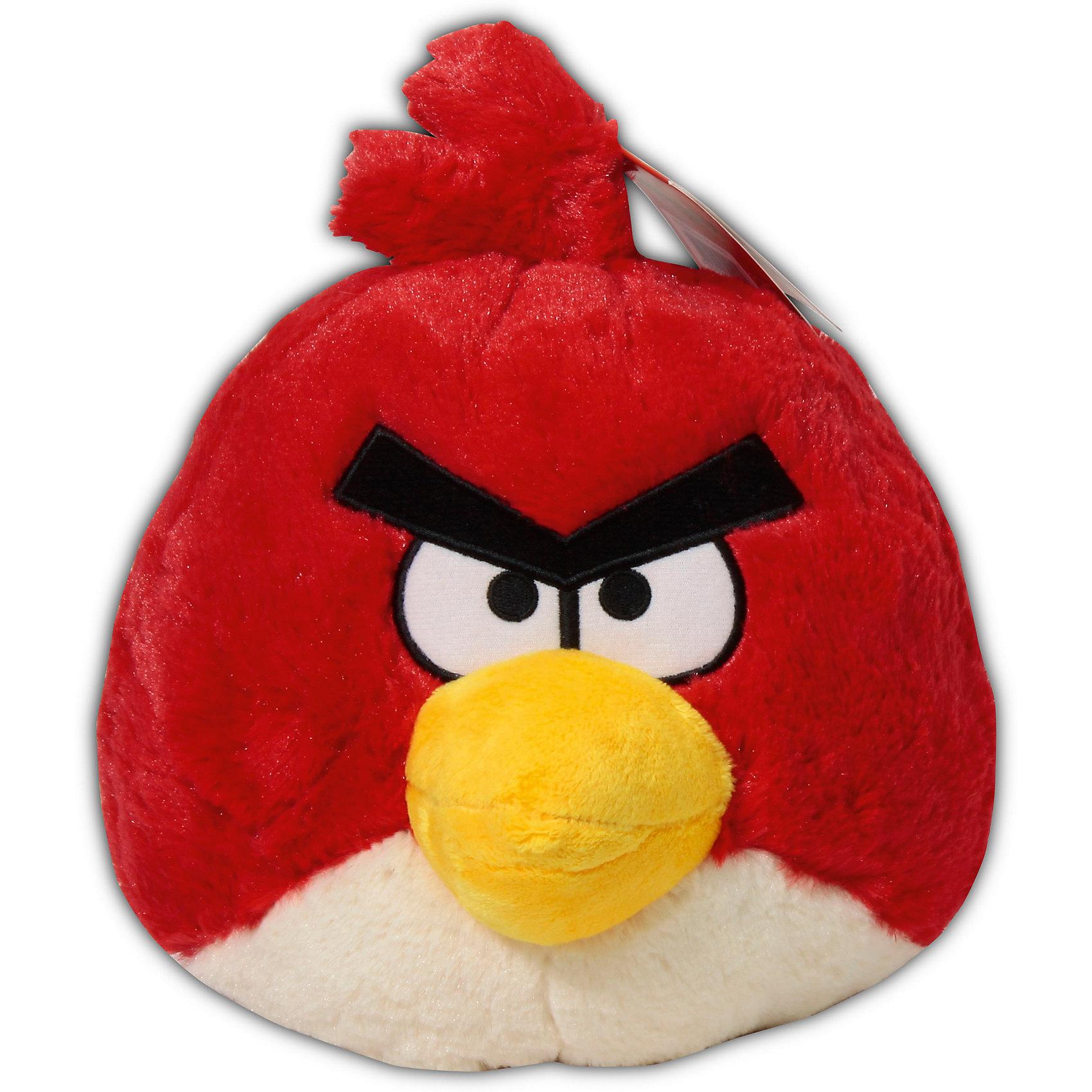 - Мягкая игрушка Красная птица, 20см, Angry Birds angry birds мяг игр 20см желтая птица и игрушка подвеска с клипом 7см