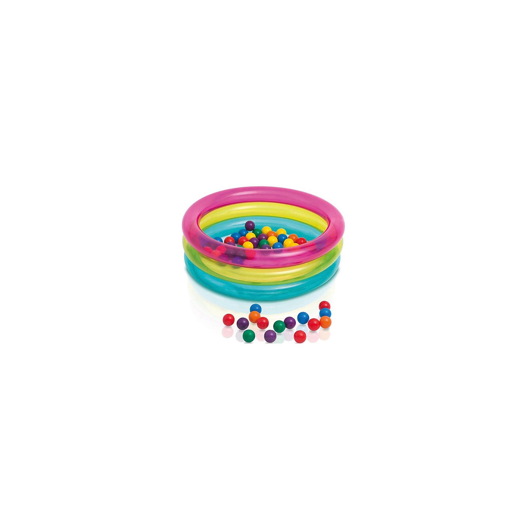 Игровой бассейн с шариками Классический, 86х25смИгровой центр (сухой бассейн) Intex 48674 (86х25 см.) + 10 шаров. В этом чудесном сухом бассейне, Ваш малыш сможет играть и веселиться. В качестве дополнения к игровому центру идут 10 мячиков. Надувной центр изготовлен из качественных материалов, полностью соответствует международным стандартам качества.<br><br>Ширина мм: 355<br>Глубина мм: 304<br>Высота мм: 152<br>Вес г: 1357<br>Возраст от месяцев: 36<br>Возраст до месяцев: 96<br>Пол: Унисекс<br>Возраст: Детский<br>SKU: 4767369