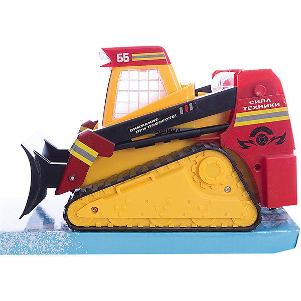 Гусеничный трактор Сила техники, со светом и звуком, ZhoryaМашинки<br>Гусеничный трактор Сила техники, со светом и звуком, Zhorya<br><br>Характеристики:<br>- Материал: пластик<br>- В комплект входит: трактор<br>- Размер упаковки: 15 * 13 * 23 см.<br>- Элементы питания: батарейки АА, 3 шт.(в комплекте отсутствуют)<br>- Вес: 700 гр.<br>Гусеничный трактор от китайского бренда игрушек для детей Zhorya (Джоя) станет отличным сюрпризом для маленьких любителей автомобилей и техники. Трактор станет отличным дополнением в автомобильной коллекции и среди любимой строительной техники. Игрушка оснащена техникой произвольного движения и делает трактор еще более правдоподобным. Также трактор подсвечивается и поет песенки на русском языке. Серия «Сила техники» - соберите свою коллекцию техники и создайте свой город. Игрушка развивает моторику рук и воображение.<br>Гусеничный трактор Сила техники, со светом и звуком, Zhorya (Джоя) можно купить в нашем интернет-магазине.<br>Подробнее:<br>• Для детей в возрасте: от 3 до 6 лет <br>• Номер товара: 4767386<br>Страна производитель: Китай<br><br>Ширина мм: 230<br>Глубина мм: 150<br>Высота мм: 130<br>Вес г: 523<br>Возраст от месяцев: 36<br>Возраст до месяцев: 72<br>Пол: Мужской<br>Возраст: Детский<br>SKU: 4767386