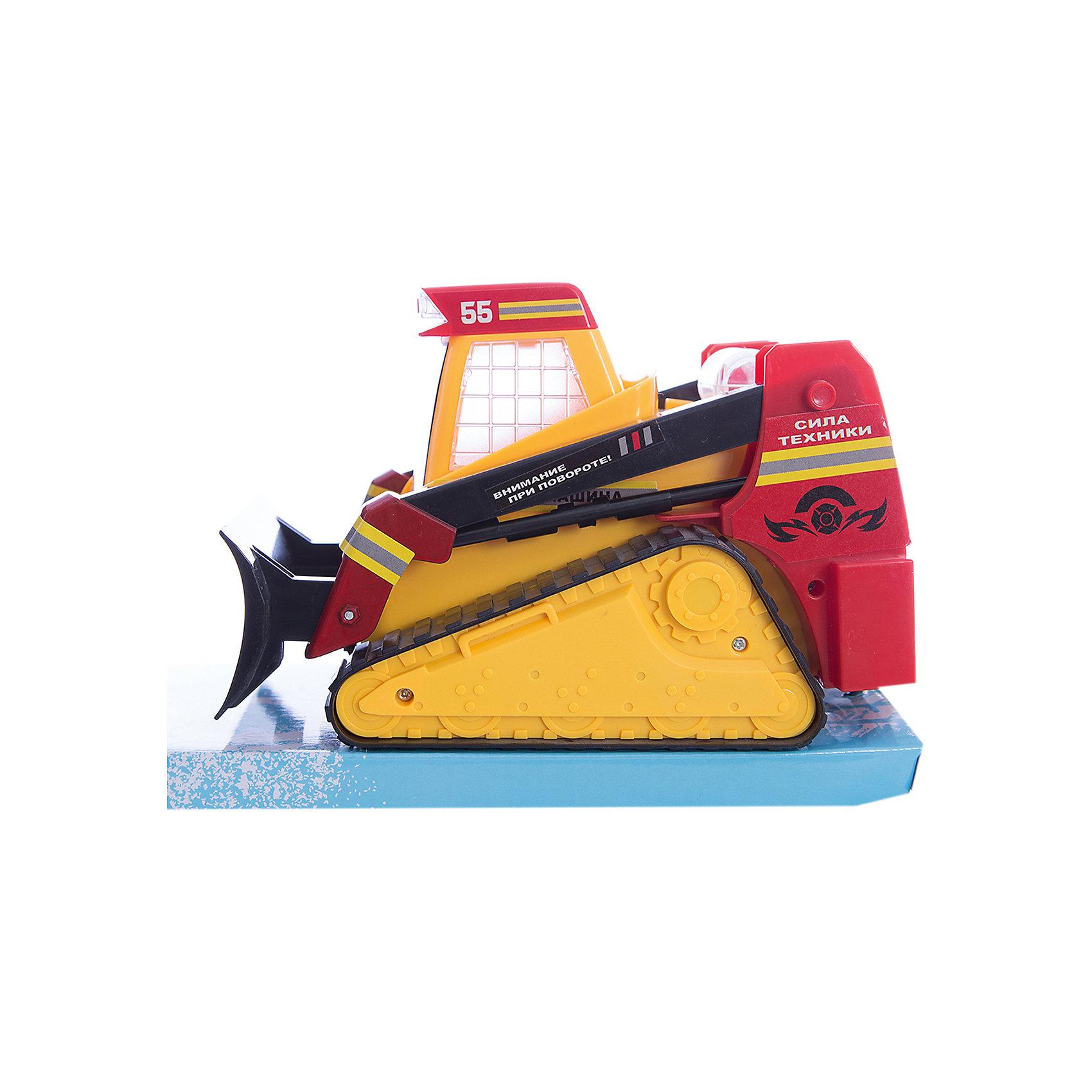 Гусеничный трактор Сила техники, со светом и звуком, ZhoryaИнтерактивные игрушки для малышей<br>Гусеничный трактор Сила техники, со светом и звуком, Zhorya<br><br>Характеристики:<br>- Материал: пластик<br>- В комплект входит: трактор<br>- Размер упаковки: 15 * 13 * 23 см.<br>- Элементы питания: батарейки АА, 3 шт.(в комплекте отсутствуют)<br>- Вес: 700 гр.<br>Гусеничный трактор от китайского бренда игрушек для детей Zhorya (Джоя) станет отличным сюрпризом для маленьких любителей автомобилей и техники. Трактор станет отличным дополнением в автомобильной коллекции и среди любимой строительной техники. Игрушка оснащена техникой произвольного движения и делает трактор еще более правдоподобным. Также трактор подсвечивается и поет песенки на русском языке. Серия «Сила техники» - соберите свою коллекцию техники и создайте свой город. Игрушка развивает моторику рук и воображение.<br>Гусеничный трактор Сила техники, со светом и звуком, Zhorya (Джоя) можно купить в нашем интернет-магазине.<br>Подробнее:<br>• Для детей в возрасте: от 3 до 6 лет <br>• Номер товара: 4767386<br>Страна производитель: Китай<br><br>Ширина мм: 230<br>Глубина мм: 150<br>Высота мм: 130<br>Вес г: 523<br>Возраст от месяцев: 36<br>Возраст до месяцев: 72<br>Пол: Мужской<br>Возраст: Детский<br>SKU: 4767386