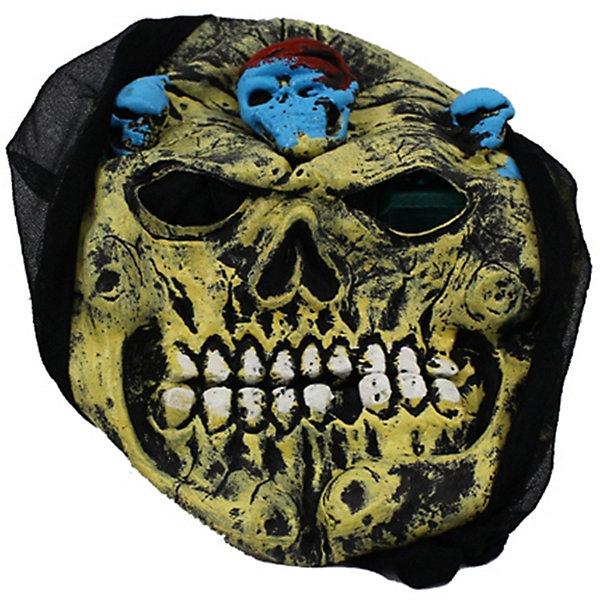 Карнавальная маска Череп, хакиДетские карнавальные маски<br>Карнавальная маска Череп, хаки — это детализированный элемент карнавального костюма, представляющий собой маску, которая вызовет настоящий восторг у всех юных поклонников преображения. Маска очень практичная, ваш ребенок всё увидит через глазницы существа. Если у него будет костюм в едином стиле с маской, то приз на любом конкурсе костюмов ему обеспечен. Эти маски могут понравится как девочкам, так и мальчикам, ведь все дети хотят хоть раз побыть на стороне чудовища.<br>Ширина мм: 195; Глубина мм: 20; Высота мм: 265; Вес г: 100; Возраст от месяцев: 72; Возраст до месяцев: 192; Пол: Мужской; Возраст: Детский; SKU: 4767388;