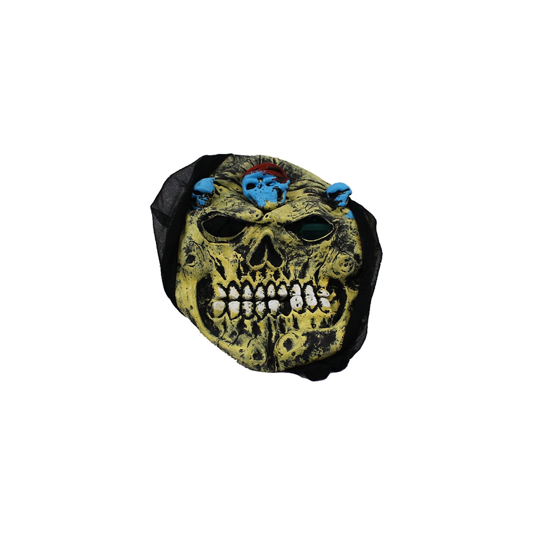 Карнавальная маска Череп, хакиСюжетно-ролевые игры<br>Карнавальная маска Череп, хаки — это детализированный элемент карнавального костюма, представляющий собой маску, которая вызовет настоящий восторг у всех юных поклонников преображения. Маска очень практичная, ваш ребенок всё увидит через глазницы существа. Если у него будет костюм в едином стиле с маской, то приз на любом конкурсе костюмов ему обеспечен. Эти маски могут понравится как девочкам, так и мальчикам, ведь все дети хотят хоть раз побыть на стороне чудовища.<br><br>Ширина мм: 195<br>Глубина мм: 20<br>Высота мм: 265<br>Вес г: 100<br>Возраст от месяцев: 72<br>Возраст до месяцев: 192<br>Пол: Мужской<br>Возраст: Детский<br>SKU: 4767388
