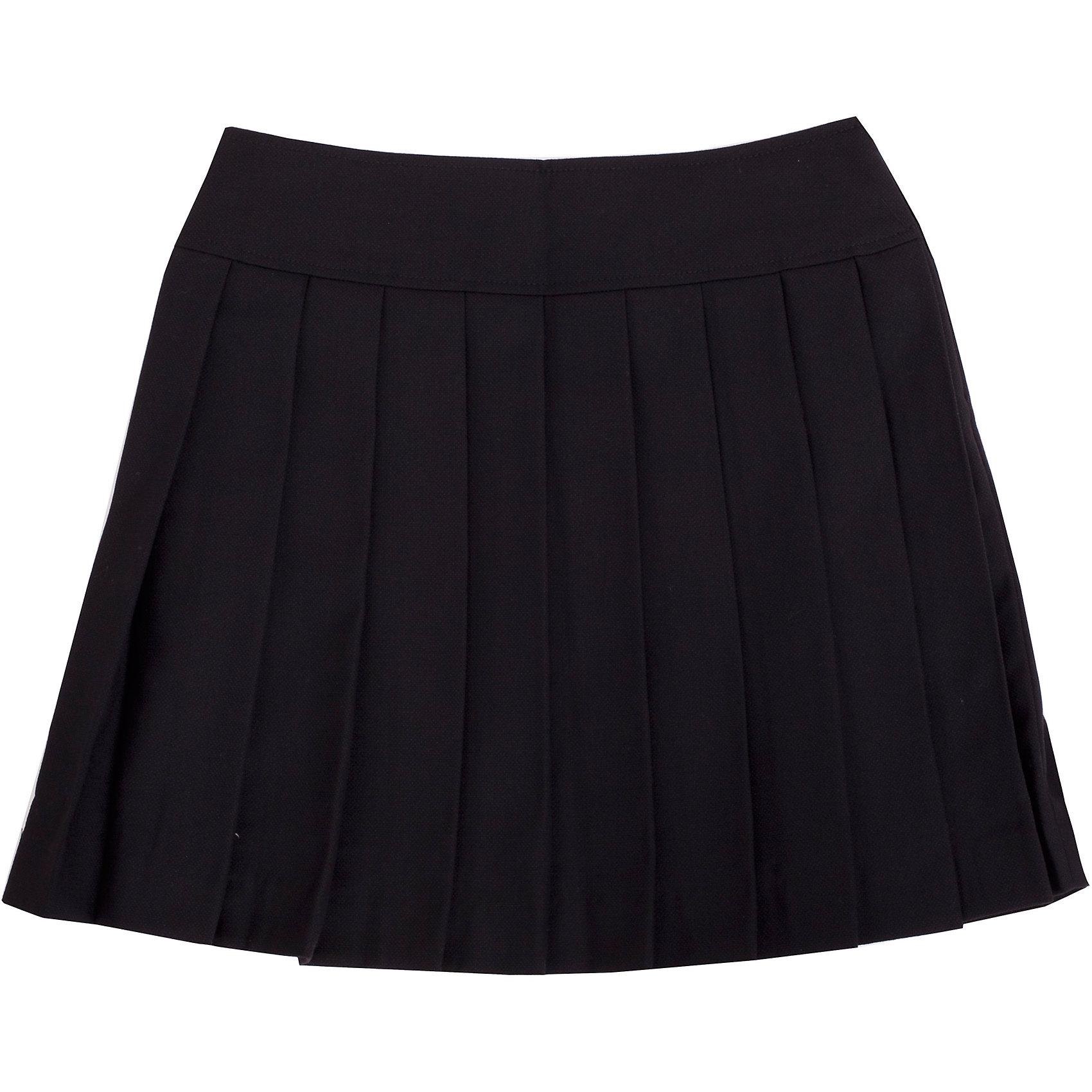 Юбка для девочки GulliverЮбка для девочки от известного бренда Gulliver<br>Школьная юбка в складку - классика жанра! Она всегда смотрится очень красиво и достойно. В сочетании с любым верхом школьная юбка в складку составит интересный элегантный комплект. Отличный состав и качество ткани гарантирует высокую износостойкость изделия.<br>Состав:<br>тк. верха: 65% полиэстер, 23% вискоза, 10% шерсть, 2% эластан подкл.: 100% полиэстер<br><br>Ширина мм: 207<br>Глубина мм: 10<br>Высота мм: 189<br>Вес г: 183<br>Цвет: черный<br>Возраст от месяцев: 108<br>Возраст до месяцев: 120<br>Пол: Женский<br>Возраст: Детский<br>Размер: 140,158,122,152,134,146,128<br>SKU: 4767820