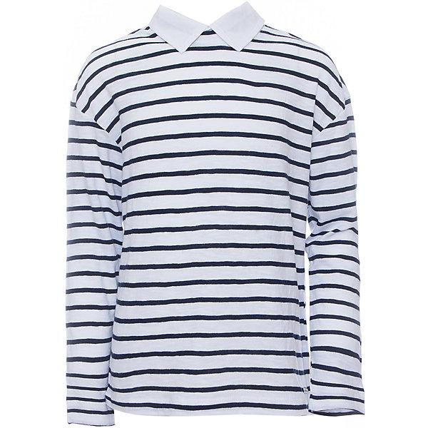 Блузка для девочки GulliverБлузки и рубашки<br>Блузка для девочки от известного бренда Gulliver<br>Если вас интересуют школьные блузки для девочек, отвлекитесь от привычных стандартов. Модель из кроеного трикотажа в полоску с отстегивающимися воротником и манжетами - оригинальный вариант для каждого дня стильной школьницы. Купить школьную блузку в полоску, значит, сделать образ ученицы свежим и интересным. Модель имеет пуговички для пристегивания текстильного воротника и манжет,  который идет в комплекте.<br>Состав:<br>100% хлопок<br>Ширина мм: 186; Глубина мм: 87; Высота мм: 198; Вес г: 197; Цвет: черный; Возраст от месяцев: 132; Возраст до месяцев: 144; Пол: Женский; Возраст: Детский; Размер: 152,134,122,158,128,146,140; SKU: 4767867;