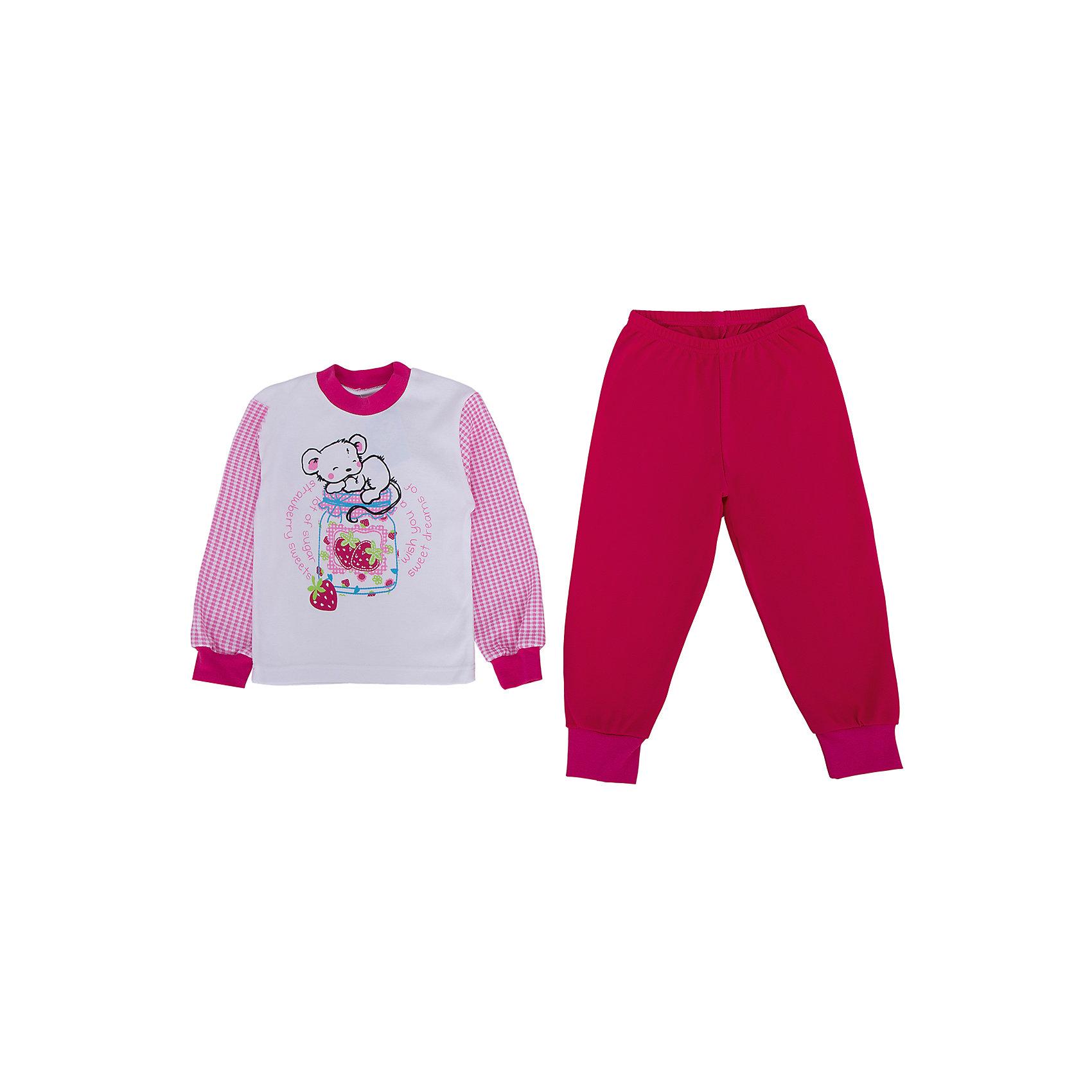 Пижама для девочки АпрельПижамы и сорочки<br>Пижама  от известного бренда Апрель<br>Замечательный домашний комплект, состоящий из джемпера и брючек. Приятный на ощупь, не сковывает движения, обеспечивая полный комфорт. Джемпер с длинными рукавами на манжете, декорирован милым дизайнерским принтом. Брючки имеют эластичный пояс, по низу манжеты. Прекрасный вариант для дома и сна!<br>Состав:<br>хлопок 100%<br><br>Ширина мм: 281<br>Глубина мм: 70<br>Высота мм: 188<br>Вес г: 295<br>Цвет: розовый<br>Возраст от месяцев: 60<br>Возраст до месяцев: 72<br>Пол: Женский<br>Возраст: Детский<br>Размер: 116,92,98,104,110<br>SKU: 4768297
