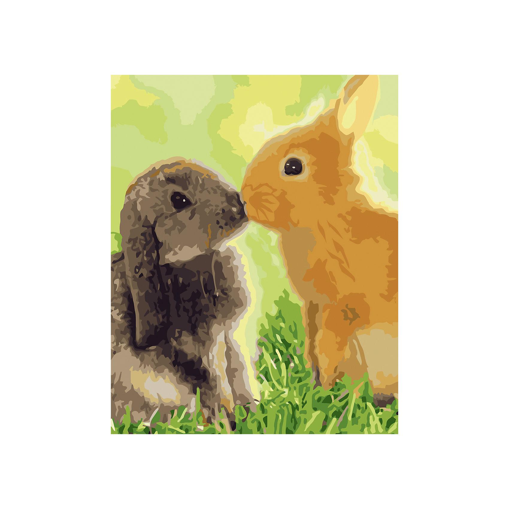 Росмэн Роспись холста по номерЛюбовь-морковь любовь морковь
