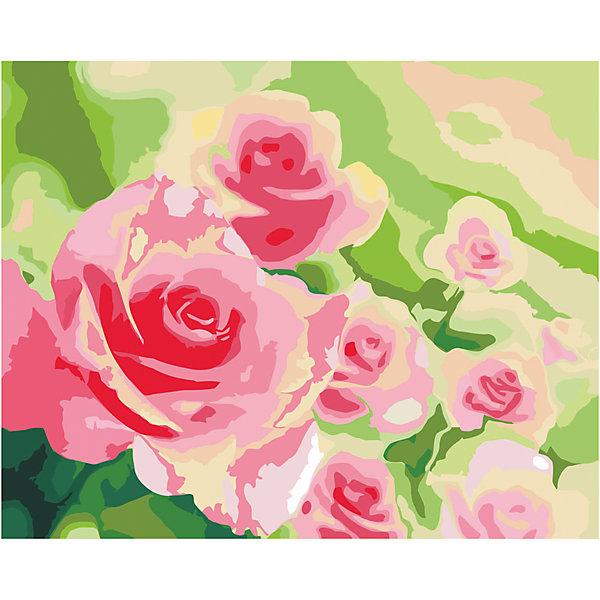 Роспись холста по номерам Розы в садуРаскраски по номерам<br>С этим замечательным набором создать прекрасную картину сможет любой человек от 7 до 99 лет, даже если он никогда раньше не ощущал себя художником. Нужно раскрасить пронумерованные фрагменты рисунка пронумерованными красками, которые ровно ложатся на холст и хорошо закрашивают контуры. А если вдруг появится ошибка, то исправить ее поможет контрольная схема рисунка. Раскрашивание холста увлекательно и для детей, и для взрослых. А получившаяся картина станет эффектным украшением интерьера. или же прекрасным подарком, сделанным своими руками. <br><br>Дополнительная информация:<br><br>- Комплектация: холст  с контурным рисунком, натянутый на деревянную рамку, акриловые краски (23 цвета), 3 кисточки (2 тонкие, 1 широкая), крепежные петли для подвешивания холста, контрольная схема рисунка. <br>- Размер холста: 40х50 см.<br>- Материал: акриловые краски, дерево, пластик, бумага. <br><br>Роспись холста по номерам Розы в саду можно купить в нашем магазине.<br>Ширина мм: 405; Глубина мм: 505; Высота мм: 15; Вес г: 479; Возраст от месяцев: 84; Возраст до месяцев: 2147483647; Пол: Унисекс; Возраст: Детский; SKU: 4768555;