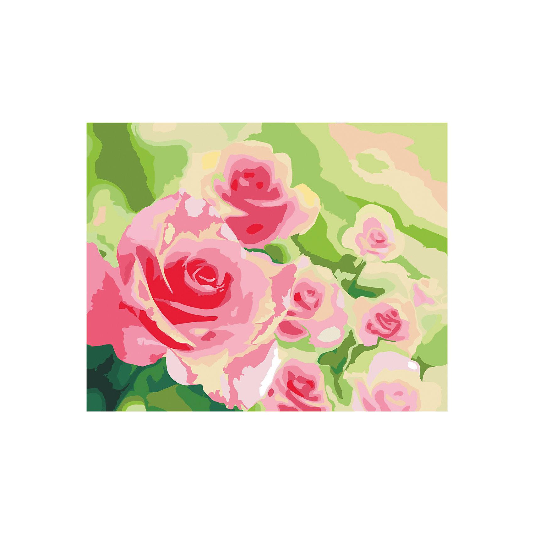 Роспись холста по номерам Розы в садуРаскраски по номерам<br>С этим замечательным набором создать прекрасную картину сможет любой человек от 7 до 99 лет, даже если он никогда раньше не ощущал себя художником. Нужно раскрасить пронумерованные фрагменты рисунка пронумерованными красками, которые ровно ложатся на холст и хорошо закрашивают контуры. А если вдруг появится ошибка, то исправить ее поможет контрольная схема рисунка. Раскрашивание холста увлекательно и для детей, и для взрослых. А получившаяся картина станет эффектным украшением интерьера. или же прекрасным подарком, сделанным своими руками. <br><br>Дополнительная информация:<br><br>- Комплектация: холст  с контурным рисунком, натянутый на деревянную рамку, акриловые краски (23 цвета), 3 кисточки (2 тонкие, 1 широкая), крепежные петли для подвешивания холста, контрольная схема рисунка. <br>- Размер холста: 40х50 см.<br>- Материал: акриловые краски, дерево, пластик, бумага. <br><br>Роспись холста по номерам Розы в саду можно купить в нашем магазине.<br><br>Ширина мм: 405<br>Глубина мм: 505<br>Высота мм: 15<br>Вес г: 479<br>Возраст от месяцев: 84<br>Возраст до месяцев: 2147483647<br>Пол: Унисекс<br>Возраст: Детский<br>SKU: 4768555
