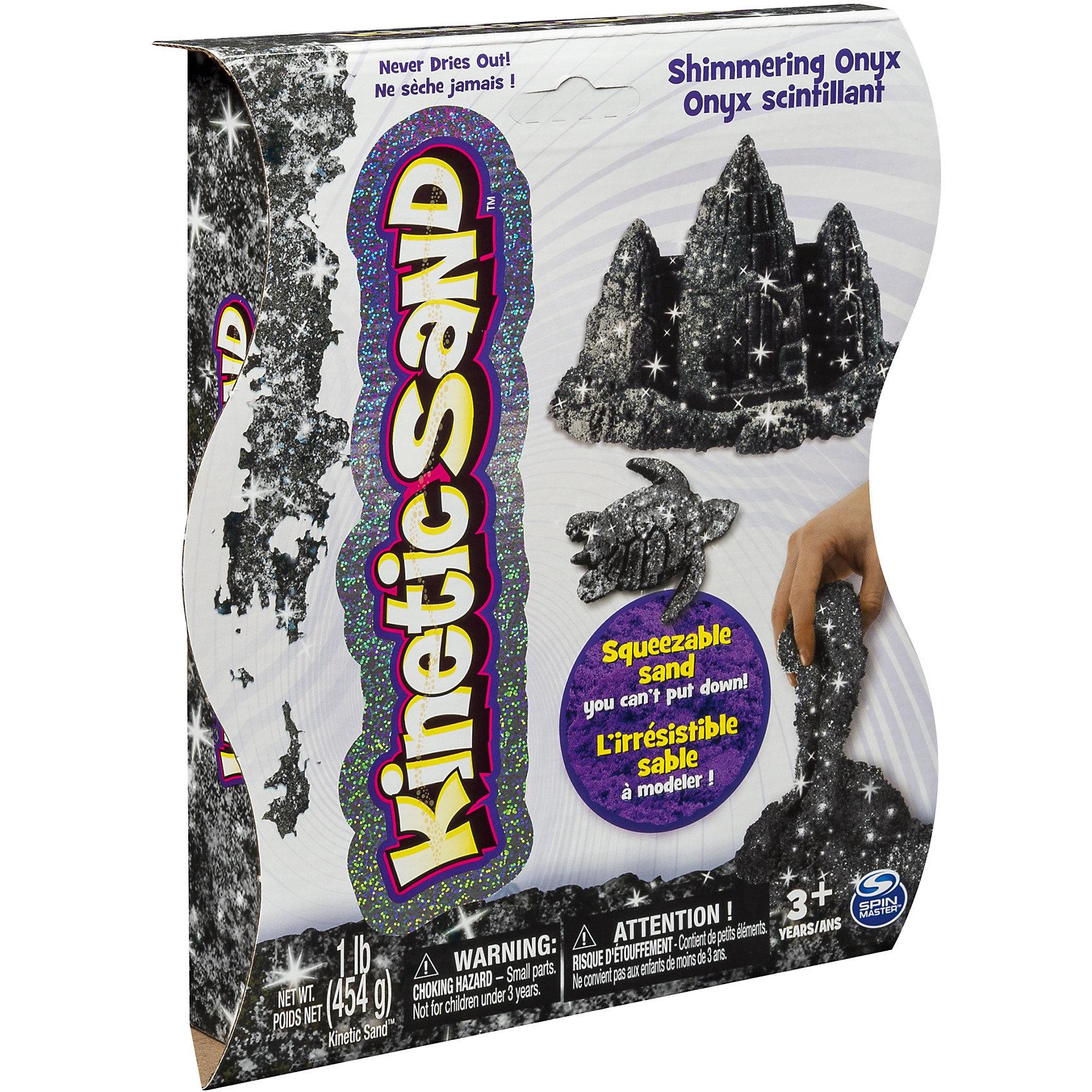 Песок для лепки Kinetic sand Драгоценные камни - оникс, 455грКинетический песок<br>Новые наборы для творчества Kinetic sand — кинетический песок ярких цветов драгоценных камней: изумрудный, сапфировый, или аметист. Эффект мерцания достигается благодаря добавленным в состав песка светоотражающим частицам.<br><br>Кинетический песок — идеальный материал для творчества: гипоаллергенный, приятный на ощупь, не прилипает к рукам и красиво течёт сквозь пальцы.<br><br>Kinetic Sand состоит из кварцевого песка и уникального связующего агента, в который добавлены светоотражающие частицы.<br><br>Ширина мм: 185<br>Глубина мм: 220<br>Высота мм: 45<br>Вес г: 567<br>Возраст от месяцев: 36<br>Возраст до месяцев: 84<br>Пол: Унисекс<br>Возраст: Детский<br>SKU: 4768734