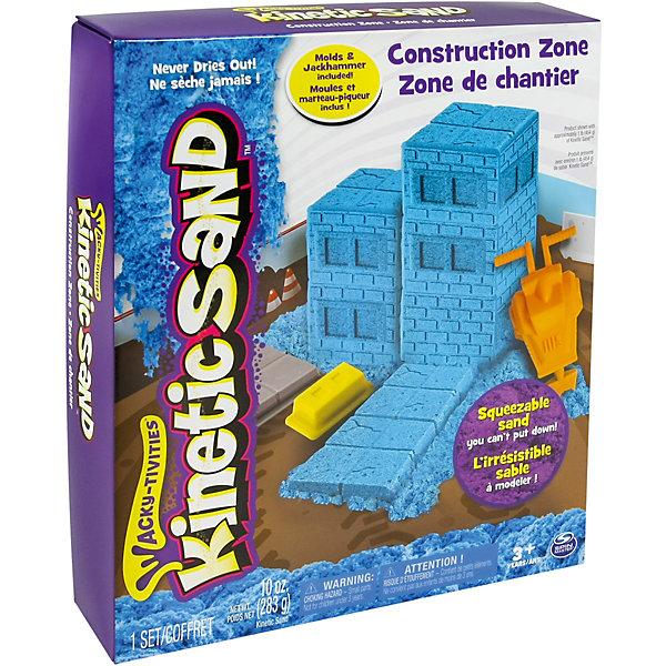 Песок для лепки Kinetic Sand Игровой набор c формочками для мальчиков, 285 гр