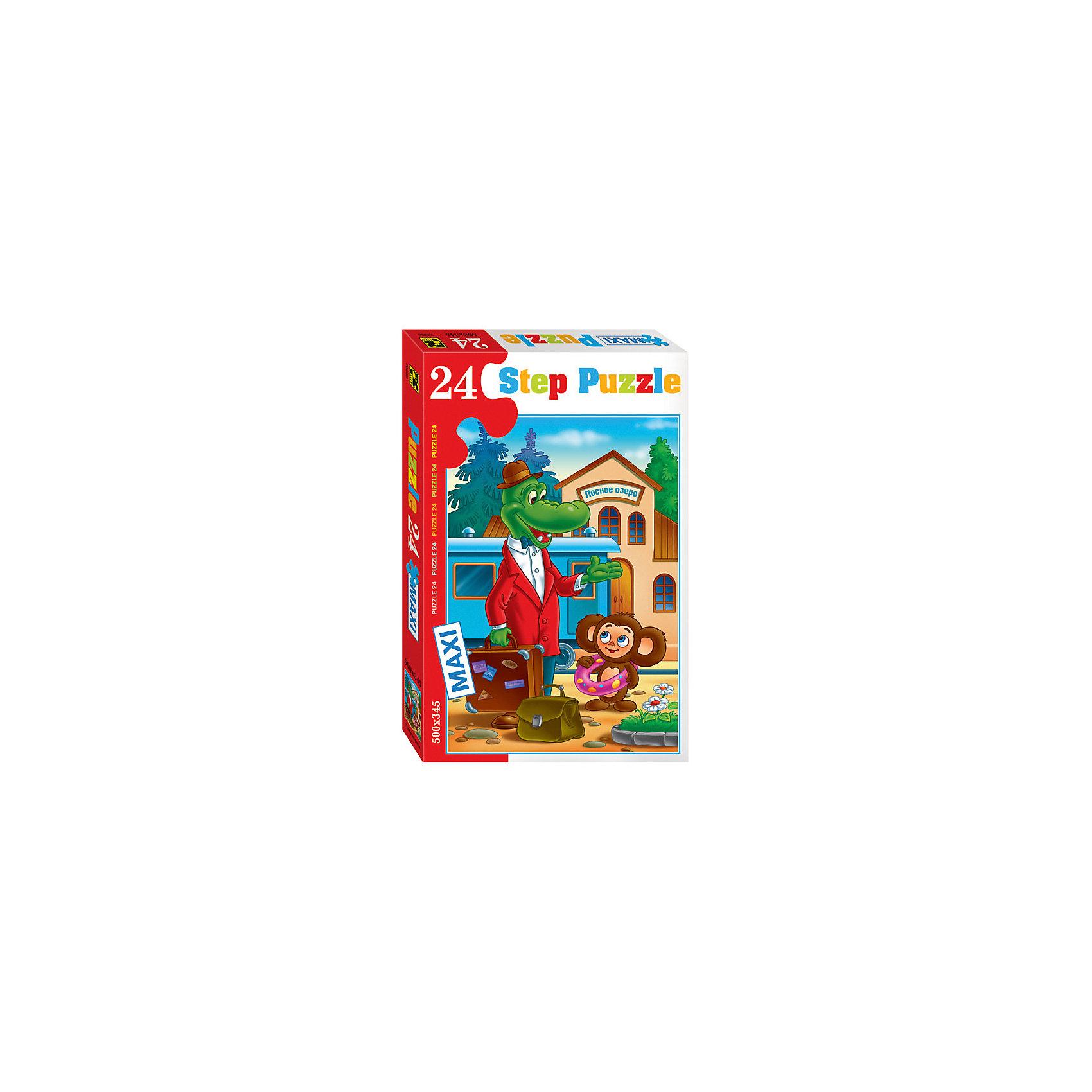Пазл Чебурашка, 24 MAXI детали, Step PuzzleПазлы для малышей<br>Пазл Чебурашка, 24 MAXI детали, Step Puzzle (Степ Пазл) – это замечательный красочный пазл с изображением любимых героев.<br>Пазл «Чебурашка» создан по мотивам популярного советского мультфильма, посвященного 2 закадычным друзьям, придуманным писателем Эдуардом Успенским. Подарите ребенку чудесный пазл, и он будет увлеченно подбирать детали, пока не составит яркую и интересную картинку, на которой Крокодил Гена и Чебурашка приехали в голубом вагоне на станцию «Лесное озеро», чтобы отдохнуть и искупаться. Большие детали позволяют самостоятельно собирать картинку даже маленьким детям. Сборка пазла Чебурашка от Step Puzzle (Степ Пазл) подарит Вашему ребенку множество увлекательных вечеров и принесет пользу для развития. Координация, моторика, внимательность легко тренируются, пока ребенок увлеченно собирает пазл. Детали пазла хорошо проклеены, идеально сцепляются друг с другом, не расслаиваются.<br><br>Дополнительная информация:<br><br>- Количество деталей: 24 MAXI<br>- Размер собранной картинки: 50х34,5 см.<br>- Материал: высококачественный картон<br>- Упаковка: картонная коробка<br>- Размер упаковки: 24,5x38x4 см.<br>- Вес: 688 гр.<br><br>Пазл Чебурашка, 24 MAXI детали, Step Puzzle (Степ Пазл) можно купить в нашем интернет-магазине.<br><br>Ширина мм: 375<br>Глубина мм: 245<br>Высота мм: 40<br>Вес г: 658<br>Возраст от месяцев: 36<br>Возраст до месяцев: 96<br>Пол: Унисекс<br>Возраст: Детский<br>Количество деталей: 24<br>SKU: 4769308