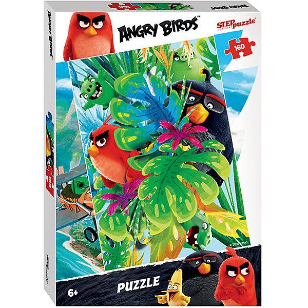 Пазл Angry Birds, 160 деталей, Step PuzzleПазлы классические<br>Пазл Angry Birds, 160 деталей, Step Puzzle (Степ Пазл) – это замечательный красочный пазл с изображением любимых героев.<br>Пазл Angry Birds создан по мотивам мультфильма Angry Birds в кино, в котором рассказывается с чего началось противостояние сердитых птичек и зеленых свинок. Подарите ребенку чудесный пазл, и он будет увлеченно подбирать детали, пока не составит яркую и интересную картинку, на которой сердитые птички и вредные свинки прячутся за широкими листьями. Сборка пазла Angry Birds от Step Puzzle (Степ Пазл) подарит Вашему ребенку множество увлекательных вечеров и принесет пользу для развития. Координация, моторика, внимательность легко тренируются, пока ребенок увлеченно собирает пазл. Детали пазла хорошо проклеены, идеально сцепляются друг с другом, не расслаиваются.<br><br>Дополнительная информация:<br><br>- Количество деталей: 160<br>- Размер собранной картинки: 34,5х24 см.<br>- Материал: высококачественный картон<br>- Упаковка: картонная коробка<br>- Размер упаковки: 28x19,5x3,3 см.<br>- Вес: 156 гр.<br><br>Пазл Angry Birds, 160 деталей, Step Puzzle (Степ Пазл) можно купить в нашем интернет-магазине.<br><br>Ширина мм: 280<br>Глубина мм: 195<br>Высота мм: 40<br>Вес г: 230<br>Возраст от месяцев: 72<br>Возраст до месяцев: 144<br>Пол: Унисекс<br>Возраст: Детский<br>Количество деталей: 160<br>SKU: 4769316