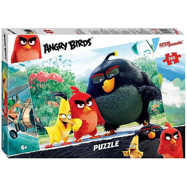 Пазл Angry Birds, 260 деталей, Step PuzzleAngry Birds<br>Пазл Angry Birds, 260 деталей, Step Puzzle (Степ Пазл) – это замечательный красочный пазл с изображением любимых героев.<br>Пазл Angry Birds создан по мотивам мультфильма Angry Birds в кино, в котором рассказывается с чего началось противостояние сердитых птичек и зеленых свинок. Подарите ребенку чудесный пазл, и он будет увлеченно подбирать детали, пока не составит яркую и интересную картинку, на которой изображены сердитые птички. Сборка пазла Angry Birds от Step Puzzle (Степ Пазл) подарит Вашему ребенку множество увлекательных вечеров и принесет пользу для развития. Координация, моторика, внимательность легко тренируются, пока ребенок увлеченно собирает пазл. Детали пазла хорошо проклеены, идеально сцепляются друг с другом, не расслаиваются.<br><br>Дополнительная информация:<br><br>- Количество деталей: 260<br>- Размер собранной картинки: 34,5х24 см.<br>- Материал: высококачественный картон<br>- Упаковка: картонная коробка<br>- Размер упаковки: 19,7x27,9x3,6 см.<br>- Вес: 152 гр.<br><br>Пазл Angry Birds, 260 деталей, Step Puzzle (Степ Пазл) можно купить в нашем интернет-магазине.<br><br>Ширина мм: 280<br>Глубина мм: 195<br>Высота мм: 34<br>Вес г: 271<br>Возраст от месяцев: 72<br>Возраст до месяцев: 144<br>Пол: Унисекс<br>Возраст: Детский<br>Количество деталей: 260<br>SKU: 4769318