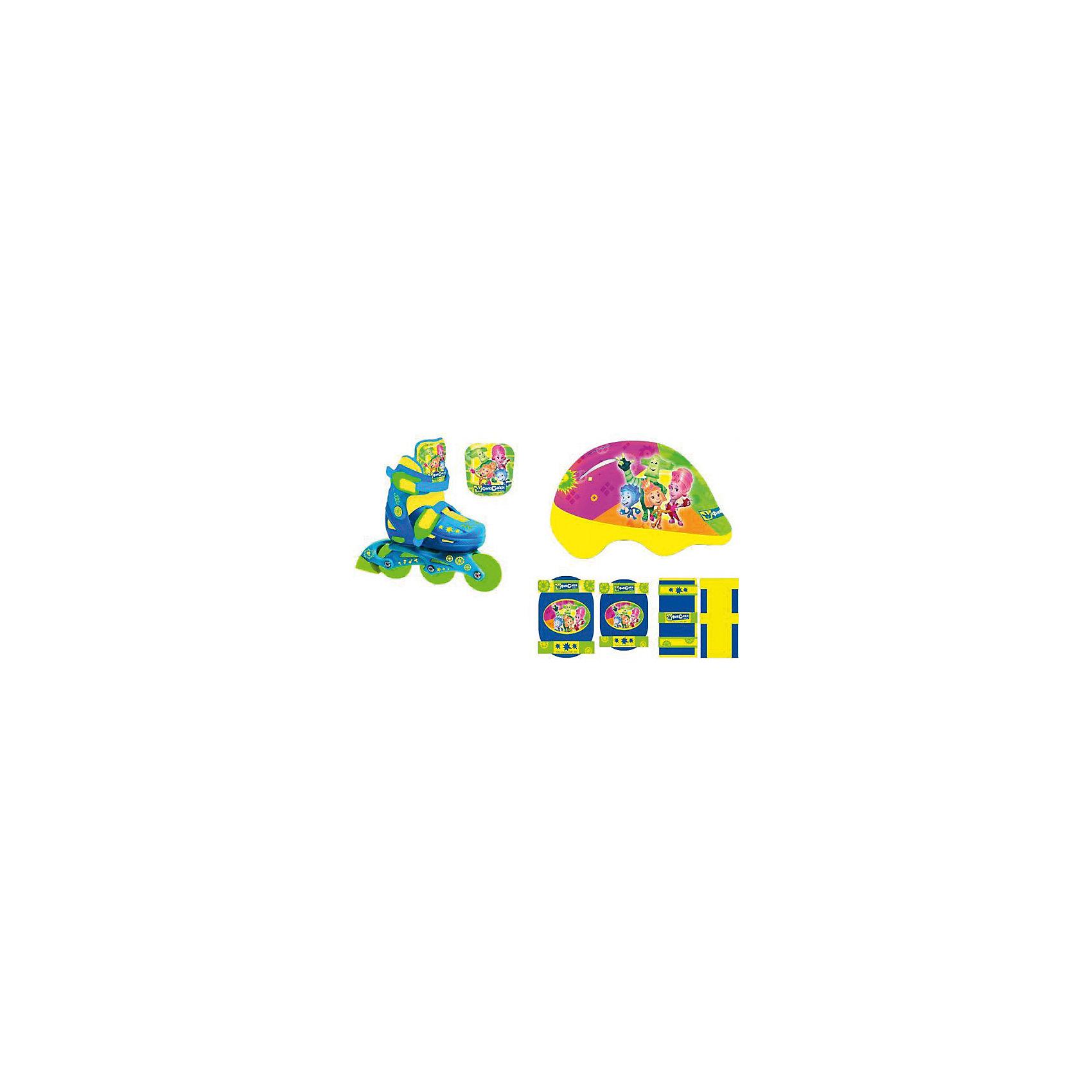 Раздвижные ролики, защита и шлем, Фиксики, NextХарактеристики роликов:<br><br>• Предназначение: для подвижных игр<br>• Пол: для девочки<br>• Цвет: желтый, синий, зеленый, розовый, оранжевый<br>• Материал: пластик, текстиль, металл, ПВХ<br>• Комплектация: ролики, шлем, защита на запястья, локти и колени<br>• Количество колес: 3 шт.<br>• Диаметр колес: 6*2,4 см<br>• Регулировка размера<br>• Тип застежки: клипса<br>• Тип ботинка: средней жесткости<br><br>Для любителей подвижных игр на свежем воздухе Next предлагает раздвижные ролики, защиту и шлем, Фиксики, которые сочетают в себе лучшие качества профессиональных роликов и требования к безопасности для детских товаров. Они выполнены из качественных и безопасных материалов: нетоксичный пластик, дышаший текстиль и прочные металлические крепления обеспечивают комфорт и удобство во время катания. Защита от травм ног обеспечивается за счет эргономичного ботинка, высокого голенища, застежек-клипс и колес повышенной устойчивости. Колеса выполнены из качественного полимера ПВХ, которые обладают повышенной прочностью и защитой от антискользящими свойствами от влажной поверхности. <br><br>Раздвижные ролики, защита и шлем, Фиксики, Next выполнены в ярком стильном дизайне, с принтом из героев знаменитого мультсериала Фиксики. Регулировка по размеру ноги позволит использовать ролики несколько сезонов. Катание на роликовых коньках способствует физическому развитию ребенка, координации движений и укреплению всех групп мышц.<br><br>Раздвижные ролики, защита и шлем, Фиксики, Next можно купить в нашем интернет-магазине.<br><br>Подробнее:<br>Для детей в возрасте: от 6 до 9 лет<br>Номер товара: 4769586<br>Страна производитель: Китай<br><br>Ширина мм: 350<br>Глубина мм: 250<br>Высота мм: 200<br>Вес г: 2430<br>Цвет: разноцветный<br>Возраст от месяцев: 72<br>Возраст до месяцев: 108<br>Пол: Мужской<br>Возраст: Детский<br>Размер: 30-33<br>SKU: 4769586