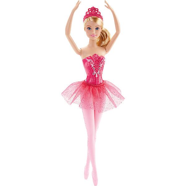 Балерина, BarbieКуклы<br>Балерина, Barbie, Mattel (Маттел) ? одна из самых знаменитых и современных на все времена куклу от Маттел ? Барби. На этот раз предстает в образе изящной балерины. Выполненная из безопасного высококачественного пластика, с подвижными частями тела ? руками, ногами, головой.<br>Балерина, Barbie, Mattel (Маттел) ? голубоглазая блондинка, одета в розовый кружевной корсет и воздушную пачку, на ногах прозрачные розовые колготки с рисунком и розовые пуанты. Прическа у Бабри, характерная для балерин, ? волосы собраны в пышный пучок, на голове ? розовая диадема. Кукла может принимать классические балетные позиции. <br>Балерина, Barbie, Mattel (Маттел) ? один из способов познакомить вашу девочку с миром классического балета. Балерина Бабри способствует сформированию чувства прекрасного, учит изяществу и грациозности.<br><br>Дополнительная информация:<br><br>- Вид игр: сюжетно-ролевые <br>- Предназначение: для дома<br>- Материал: пластик, текстиль<br>- Цвет: оттенки розового, белый<br>- Размер (Д*Ш*В): 5*9*32,5 см<br>- Вес: 198 г <br>- Особенности ухода: куклу можно мыть в теплой мыльной воде<br><br>Подробнее:<br><br>• Для детей в возрасте: от 3 лет и до 8 лет<br>• Страна производитель: Индонезия<br>• Торговый бренд: Mattel<br><br>Балерину, Barbie, Mattel (Маттел) можно купить в нашем интернет-магазине.<br><br>Ширина мм: 50<br>Глубина мм: 90<br>Высота мм: 325<br>Вес г: 198<br>Возраст от месяцев: 36<br>Возраст до месяцев: 96<br>Пол: Женский<br>Возраст: Детский<br>SKU: 4770037
