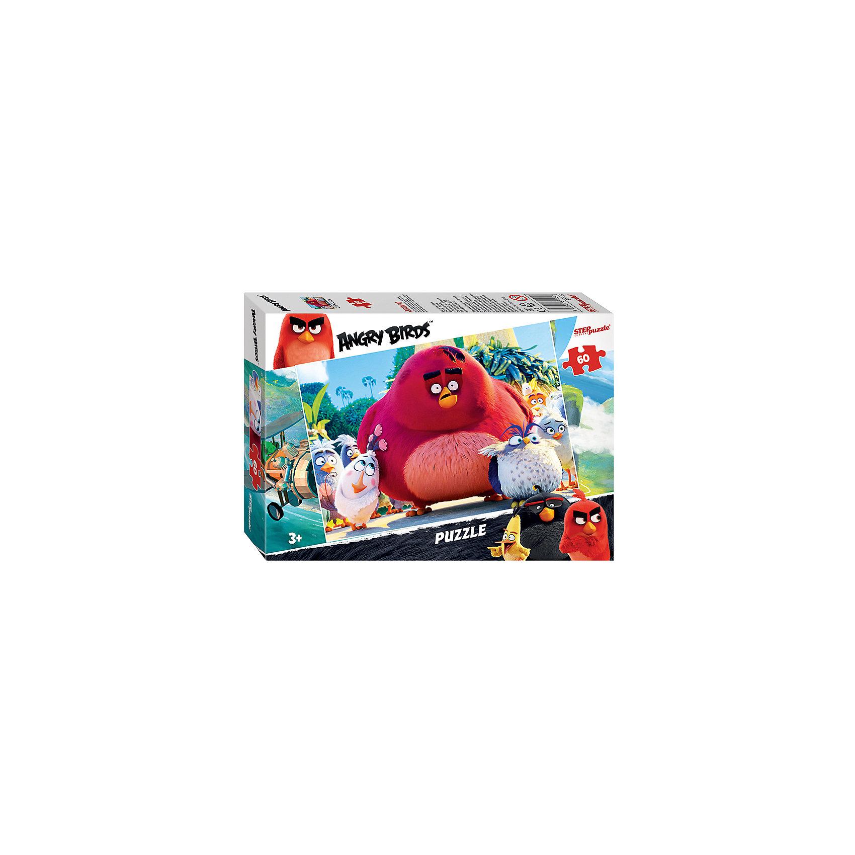 Пазл Angry Birds, 60 деталей, Step PuzzleПазл Angry Birds, 60 деталей, Step Puzzle (Степ Пазл) – это замечательный красочный пазл с изображением любимых героев.<br>Пазл Angry Birds создан по мотивам мультфильма «Angry Birds в кино», в котором рассказывается с чего началась вражда сердитых птичек и зеленых свинок. Сборка пазла Angry Birds от Step Puzzle (Степ Пазл) подарит Вашему ребенку множество увлекательных вечеров и принесет пользу для развития. Координация, моторика, внимательность легко тренируются, пока ребенок увлеченно подбирает детали. Детали пазла хорошо проклеены, идеально сцепляются друг с другом, не расслаиваются.<br><br>Дополнительная информация:<br><br>- Количество деталей: 60<br>- Размер собранной картинки: 23х33 см.<br>- Материал: высококачественный картон<br>- Упаковка: картонная коробка<br>- Размер упаковки: 13,7x19,6x3,8 см.<br>- Вес: 110 гр.<br><br>Пазл Angry Birds, 60 деталей, Step Puzzle (Степ Пазл) можно купить в нашем интернет-магазине.<br><br>Ширина мм: 195<br>Глубина мм: 137<br>Высота мм: 35<br>Вес г: 150<br>Возраст от месяцев: 60<br>Возраст до месяцев: 120<br>Пол: Унисекс<br>Возраст: Детский<br>Количество деталей: 60<br>SKU: 4770611