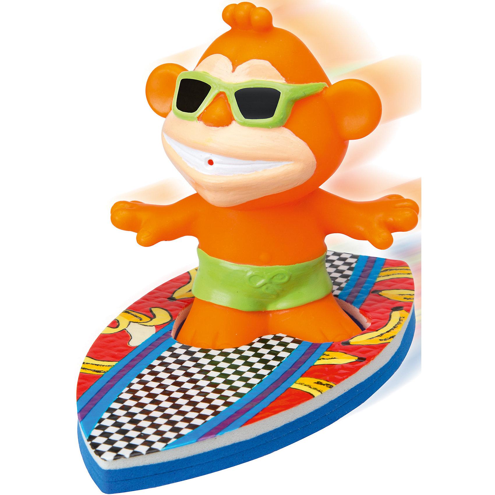 Игрушка для ванны Серфинг, ALEXИгрушка для ванны Серфинг, ALEX (АЛЕКС) - превратит купание ребенка в веселую увлекательную игру.<br>Забавная игрушка для ванны Серфинг от ALEX (АЛЕКС) подарит море удовольствия ребенку во время купания. В комплект входит фигурка обезьянки-серфингиста в темных очках и две доски для серфинга. Малышу нужно выбрать одну из досок, установить на нее обезьяну, создать волны в ванне и наблюдать, как она ловит волну. Если в обезьянку набрать воды, а потом нажать, из ее рта будет весело бить фонтанчик.<br><br>Дополнительная информация:<br><br>- В наборе: обезьянка-серфингист, 2 доски для серфинга<br>- Материал: резина, пенопласт<br>- Размер упаковки: 16,5x6х25,5 см.<br><br>Игрушку для ванны Серфинг, ALEX (АЛЕКС) можно купить в нашем интернет-магазине.<br><br>Ширина мм: 165<br>Глубина мм: 57<br>Высота мм: 254<br>Вес г: 150<br>Возраст от месяцев: 24<br>Возраст до месяцев: 72<br>Пол: Унисекс<br>Возраст: Детский<br>SKU: 4771341