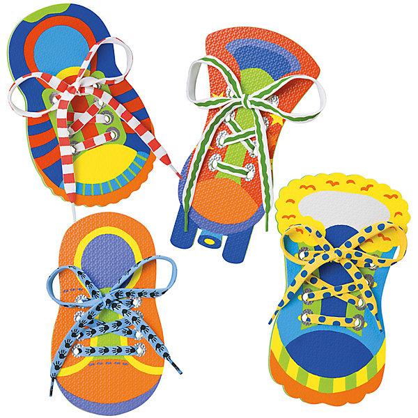 Большой набор Учимся шнуровать, ALEXШнуровки<br>Большой набор Учимся шнуровать, ALEX (АЛЕКС) - это увлекательная развивающая игра для ребенка.<br>Четыре яркие фигурки в виде ботиночек с яркими шнурками – это игрушка, при помощи которой ваш малыш в игровой форме легко освоит навыки шнуровки, разовьет мелкую моторику и координацию движения рук. <br><br>Дополнительная информация:<br><br>- В наборе: 4 игрушечных ботинка из полимерных материалов с большими отверстиями для шнуровки, 4 ярких шнурка<br>- Размер упаковки: 27 х 26 x 4 см.<br><br>Большой набор Учимся шнуровать, ALEX (АЛЕКС) можно купить в нашем интернет-магазине.<br>Ширина мм: 267; Глубина мм: 51; Высота мм: 254; Вес г: 363; Возраст от месяцев: 36; Возраст до месяцев: 84; Пол: Унисекс; Возраст: Детский; SKU: 4771343;