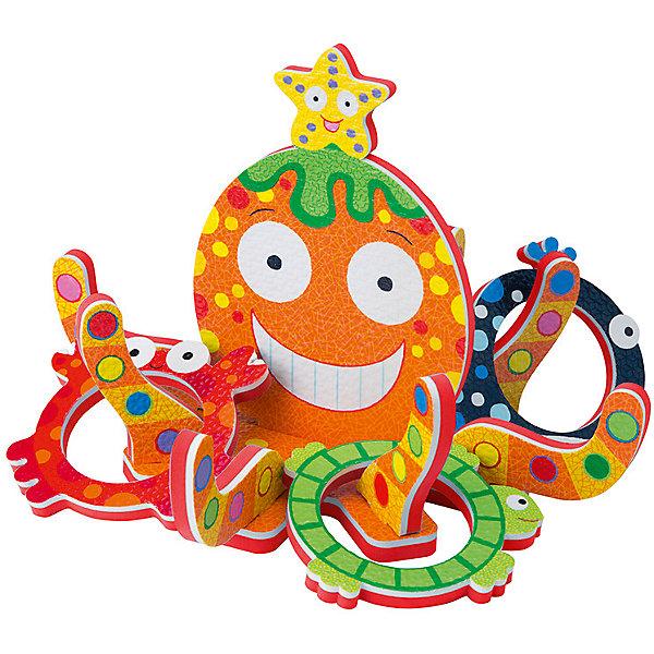 Игра для ванны Кольцеброс Осьминожка, ALEXИгрушки для ванной<br>Игра для ванны Кольцеброс Осьминожка, ALEX (АЛЕКС) - эта забавная игрушка развеселит вашего малыша во время купания.<br>В классическую игру кольцеброс теперь можно играть во время купания! Цель игры: нужно накинуть 8 колец в виде разных морских обитателей на 8 щупалец осьминога плавающего на поверхности воды. А еще колечки можно прикрепить на кафель в ванной, достаточно лишь смочить их водой. Игра развивает внимание, меткость ребенка, а так же помогает полюбить водные процедуры. Игра упакована в удобную сумочку-сетку на присосках, которую можно прикрепить к стене.<br><br>Дополнительная информация:<br><br>- В наборе: кольцеброс осьминожка, 8 колец в виде морских животных<br>- Материал: вспененная резина<br>- Упаковка: сетка<br>- Размер упаковки: 28x26x5 см.<br><br>Игру для ванны Кольцеброс Осьминожка, ALEX (АЛЕКС) можно купить в нашем интернет-магазине.<br>Ширина мм: 250; Глубина мм: 250; Высота мм: 50; Вес г: 584; Возраст от месяцев: 36; Возраст до месяцев: 84; Пол: Унисекс; Возраст: Детский; SKU: 4771344;