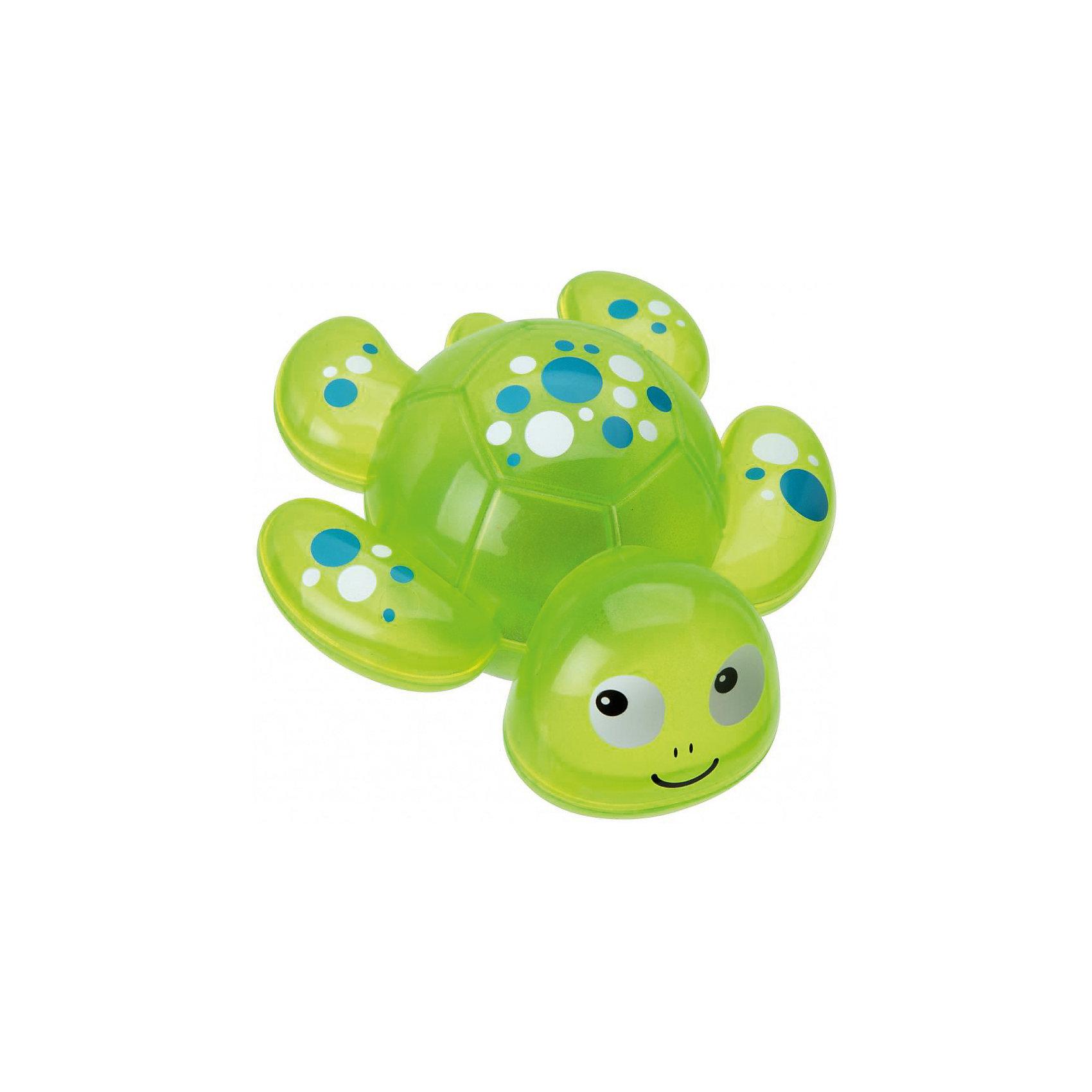 Игрушка для ванны Черепашка, ALEXИгрушка для ванны Черепашка, ALEX (АЛЕКС) - эта забавная игрушка развеселит вашего малыша во время купания.<br>Ярко-зеленая черепашка от ALEX (АЛЕКС) привлечет внимание вашего малыша и превратит купание в веселую игру! Игрушка хорошо держится на поверхности воды, не тонет, при контакте с водой светится и мигает. Развивает воображение, цветовосприятие, мелкую моторику, а также помогает ребенку справиться с боязнью воды.<br><br>Дополнительная информация:<br><br>- Материал: ПВХ<br>- Батарейки: 3 типа AG13/LR44 (входят в комплект)<br>- Размер упаковки: 15x7х17,5 см.<br><br>Игрушку для ванны Черепашка, ALEX (АЛЕКС) можно купить в нашем интернет-магазине.<br><br>Ширина мм: 150<br>Глубина мм: 70<br>Высота мм: 180<br>Вес г: 230<br>Возраст от месяцев: 36<br>Возраст до месяцев: 84<br>Пол: Унисекс<br>Возраст: Детский<br>SKU: 4771345