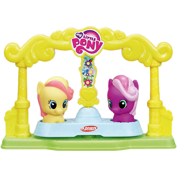 Карусель для пони-малышек, My little PonyПопулярные игрушки<br>Теперь даже самые маленькие девочки могут развиваться и играть с My Little Pony. Набор пони-малышки  состоит из двух  ярких, очаровательных пони, размер которых идеально подходит для маленьких ручек и карусели, которая крутится. Фигурки пони подходят для всех игровых наборов линейки.  18М+<br><br>Ширина мм: 237<br>Глубина мм: 208<br>Высота мм: 81<br>Вес г: 262<br>Возраст от месяцев: 18<br>Возраст до месяцев: 36<br>Пол: Унисекс<br>Возраст: Детский<br>SKU: 4772135