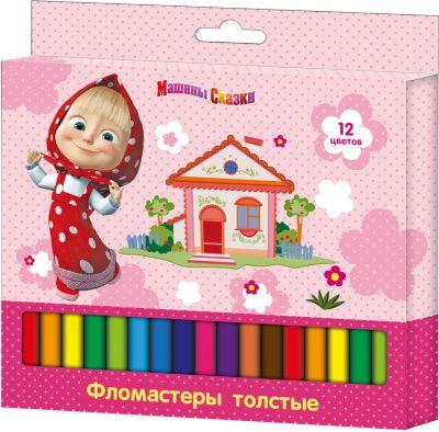 Росмэн Толстые фломастеры, 12 цв., Маша и Медведь