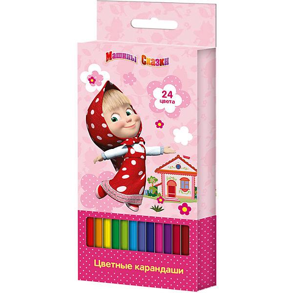 Цветные карандаши, 24 цв., Маша и МедведьМаша и Медведь<br>Цветные карандаши - необходимый инструмент для детского творчества и школьных занятий. Карандаши, Маша и Медведь, идеально подходят для рисования, письма и раскрашивания, не требуют сильного нажатия, поэтом ребенку будет легко ими рисовать. Карандаши изготовлены<br>из высококачественной древесины, легко затачиваются, имеют прочный грифель, который не ломается при заточке. Набор из 24 карандашей оформлен в розовую картонную коробку с изображением любимой героини из популярного мультсериала Маша и Медведь.<br><br><br>Дополнительная информация:<br><br>- В комплекте: 24 карандаша.<br>- Материал: дерево, грифель.<br>- Размер упаковки: 17,5 х 1,5 х 9 см.<br>- Вес: 139 гр.<br><br>Цветные карандаши, 24 цв., Маша и Медведь, можно купить в нашем интернет-магазине.<br>Ширина мм: 178; Глубина мм: 90; Высота мм: 15; Вес г: 139; Возраст от месяцев: 36; Возраст до месяцев: 120; Пол: Унисекс; Возраст: Детский; SKU: 4774823;