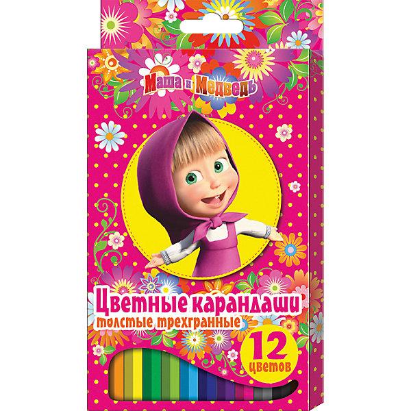 Цветные карандаши, 12 цв., Маша и МедведьМаша и Медведь<br>Цветные карандаши - необходимый инструмент для детского творчества и школьных занятий. Карандаши, Маша и Медведь, идеально подходят для рисования, письма и раскрашивания. Карандаши разработаны специально для малышей: благодаря утолщенному трехгранному корпусу и эргономичной форме, они особенно удобны для детской руки, поэтому ребенок может рисовать без усталости и правильно держать мягкий карандаш. Изготовлены из высококачественной древесины, легко затачиваются, имеют прочный грифель, который не ломается при<br>заточке. Набор из 12 карандашей оформлен в розовую картонную коробку с изображением любимой героини из популярного мультсериала Маша и Медведь.<br><br><br>Дополнительная информация:<br><br>- В комплекте: 12 карандашей.<br>- Материал: дерево, грифель.<br>- Размер упаковки: 21 х 1 х 11,5 см.<br>- Вес: 148 гр.<br><br>Цветные карандаши, 12 цв., Маша и Медведь, можно купить в нашем интернет-магазине.<br><br>Ширина мм: 210<br>Глубина мм: 115<br>Высота мм: 10<br>Вес г: 148<br>Возраст от месяцев: 36<br>Возраст до месяцев: 120<br>Пол: Унисекс<br>Возраст: Детский<br>SKU: 4774827