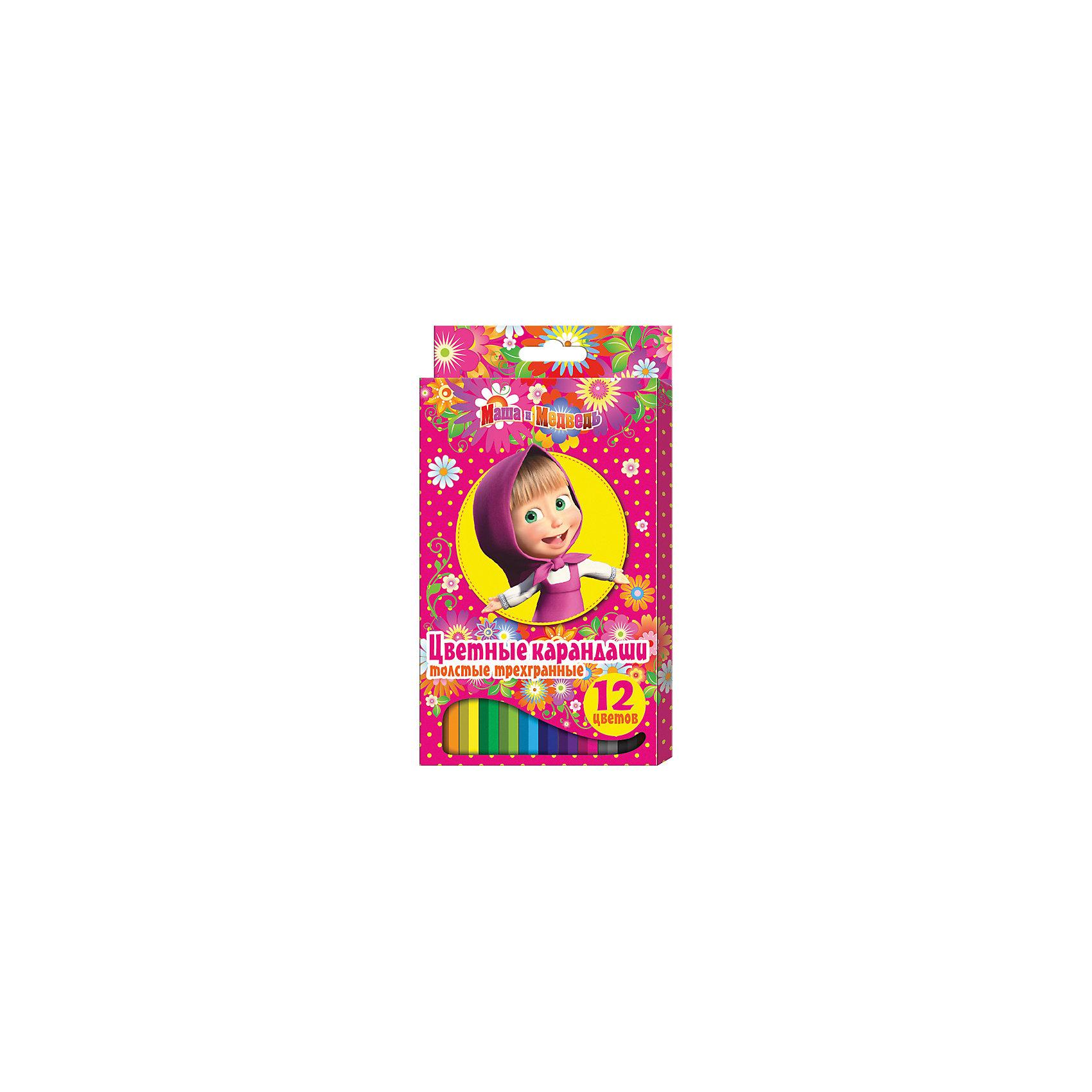 Цветные карандаши, 12 цв., Маша и МедведьЦветные карандаши - необходимый инструмент для детского творчества и школьных занятий. Карандаши, Маша и Медведь, идеально подходят для рисования, письма и раскрашивания. Карандаши разработаны специально для малышей: благодаря утолщенному трехгранному корпусу и эргономичной форме, они особенно удобны для детской руки, поэтому ребенок может рисовать без усталости и правильно держать мягкий карандаш. Изготовлены из высококачественной древесины, легко затачиваются, имеют прочный грифель, который не ломается при<br>заточке. Набор из 12 карандашей оформлен в розовую картонную коробку с изображением любимой героини из популярного мультсериала Маша и Медведь.<br><br><br>Дополнительная информация:<br><br>- В комплекте: 12 карандашей.<br>- Материал: дерево, грифель.<br>- Размер упаковки: 21 х 1 х 11,5 см.<br>- Вес: 148 гр.<br><br>Цветные карандаши, 12 цв., Маша и Медведь, можно купить в нашем интернет-магазине.<br><br>Ширина мм: 210<br>Глубина мм: 115<br>Высота мм: 10<br>Вес г: 148<br>Возраст от месяцев: 36<br>Возраст до месяцев: 120<br>Пол: Унисекс<br>Возраст: Детский<br>SKU: 4774827