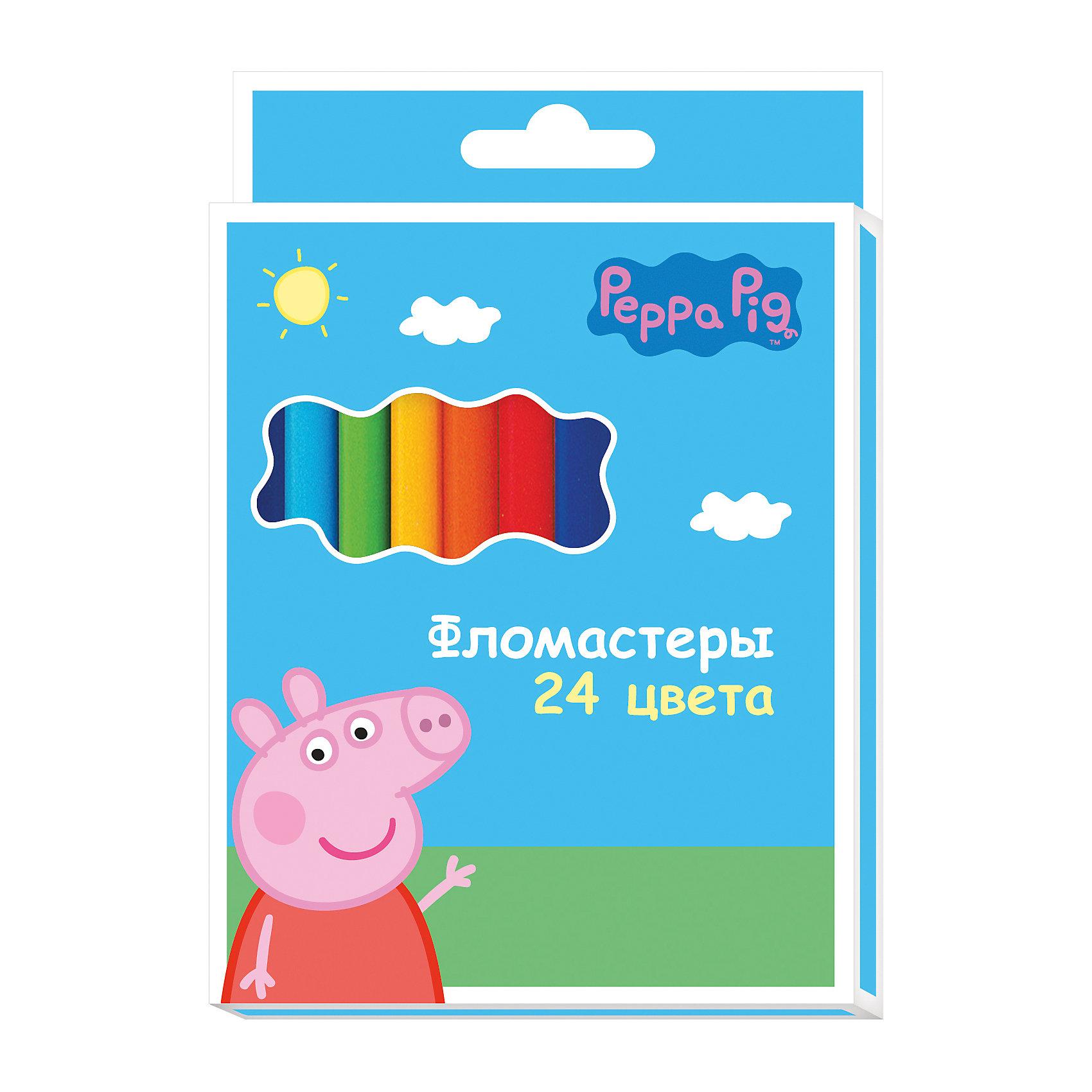 Росмэн Фломастеры 24цв., Свинка Пеппа