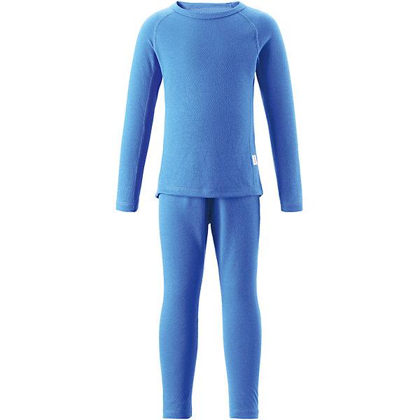 Термобелье Lani для мальчика ReimaОдежда<br>Термобелье для мальчика Reima.<br>Комплект базового слоя для подростков. Теплый материал Thermolite отводит влагу и сохраняет кожу сухой и приятной, создавая чувство комфорта. Быстро сохнет и сохраняет тепло. Мягкие плоские швы для дополнительного комфорта: не раздражает кожу. Удлиненный подол сзади.<br>Уход:<br>Стирать с бельем одинакового цвета, вывернув наизнанку. Стирать моющим средством, не содержащим отбеливающие вещества. Полоскать без специального средства. Придать первоначальную форму вo влажном виде. Сушить при низкой температуре. <br>Состав:<br>43% полиэстер THERMOLITE®, 53% полиэстер, 4% sorona<br><br>Ширина мм: 215<br>Глубина мм: 88<br>Высота мм: 191<br>Вес г: 336<br>Цвет: голубой<br>Возраст от месяцев: 18<br>Возраст до месяцев: 24<br>Пол: Мужской<br>Возраст: Детский<br>Размер: 90,110,120,130,80,140,160,150,100<br>SKU: 4775020