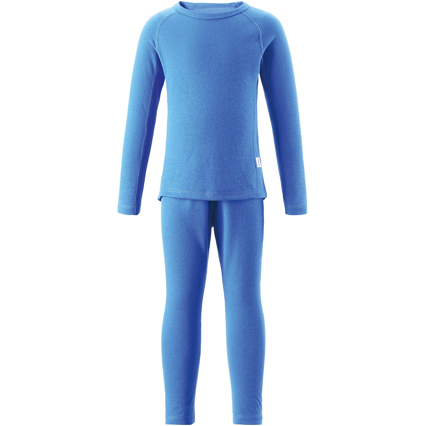 Термобелье Lani для мальчика ReimaОдежда<br>Термобелье для мальчика Reima.<br>Комплект базового слоя для подростков. Теплый материал Thermolite отводит влагу и сохраняет кожу сухой и приятной, создавая чувство комфорта. Быстро сохнет и сохраняет тепло. Мягкие плоские швы для дополнительного комфорта: не раздражает кожу. Удлиненный подол сзади.<br>Уход:<br>Стирать с бельем одинакового цвета, вывернув наизнанку. Стирать моющим средством, не содержащим отбеливающие вещества. Полоскать без специального средства. Придать первоначальную форму вo влажном виде. Сушить при низкой температуре. <br>Состав:<br>43% полиэстер THERMOLITE®, 53% полиэстер, 4% sorona<br><br>Ширина мм: 215<br>Глубина мм: 88<br>Высота мм: 191<br>Вес г: 336<br>Цвет: голубой<br>Возраст от месяцев: 72<br>Возраст до месяцев: 84<br>Пол: Мужской<br>Возраст: Детский<br>Размер: 140,80,130,90,120,110,100,150,160<br>SKU: 4775020