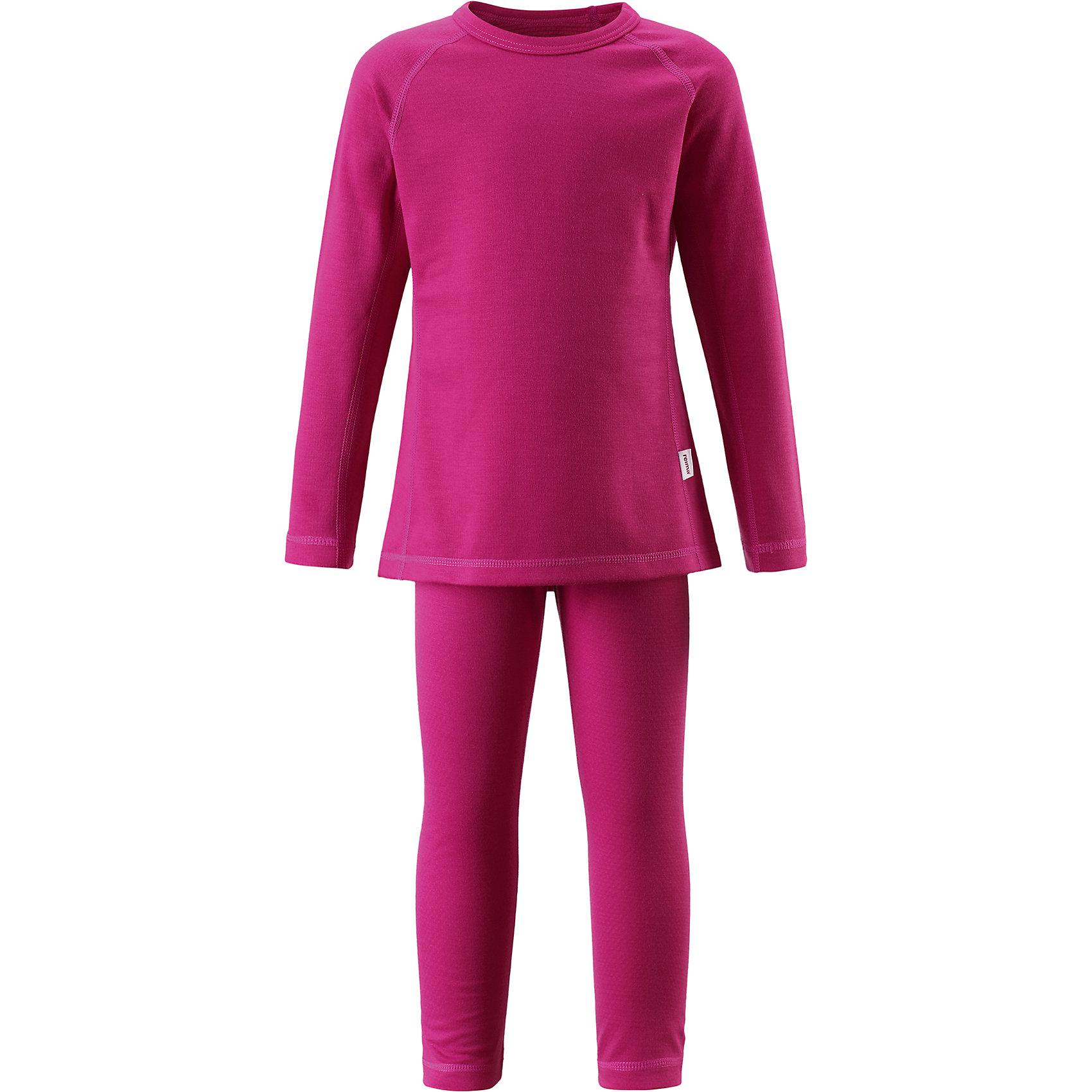 Термобелье Lani для девочки ReimaОдежда<br>Термобелье для девочки Reima.<br>Комплект базового слоя для подростков. Теплый материал Thermolite отводит влагу и сохраняет кожу сухой и приятной, создавая чувство комфорта. Быстро сохнет и сохраняет тепло. Мягкие плоские швы для дополнительного комфорта: не раздражает кожу. Удлиненный подол сзади.<br>Уход:<br>Стирать с бельем одинакового цвета, вывернув наизнанку. Стирать моющим средством, не содержащим отбеливающие вещества. Полоскать без специального средства. Придать первоначальную форму вo влажном виде. Сушить при низкой температуре. <br>Состав:<br>43% полиэстер THERMOLITE®, 53% полиэстер, 4% sorona<br><br>Ширина мм: 215<br>Глубина мм: 88<br>Высота мм: 191<br>Вес г: 336<br>Цвет: розовый<br>Возраст от месяцев: 108<br>Возраст до месяцев: 120<br>Пол: Женский<br>Возраст: Детский<br>Размер: 140,120,110,80,160,130,100,150,90<br>SKU: 4775030