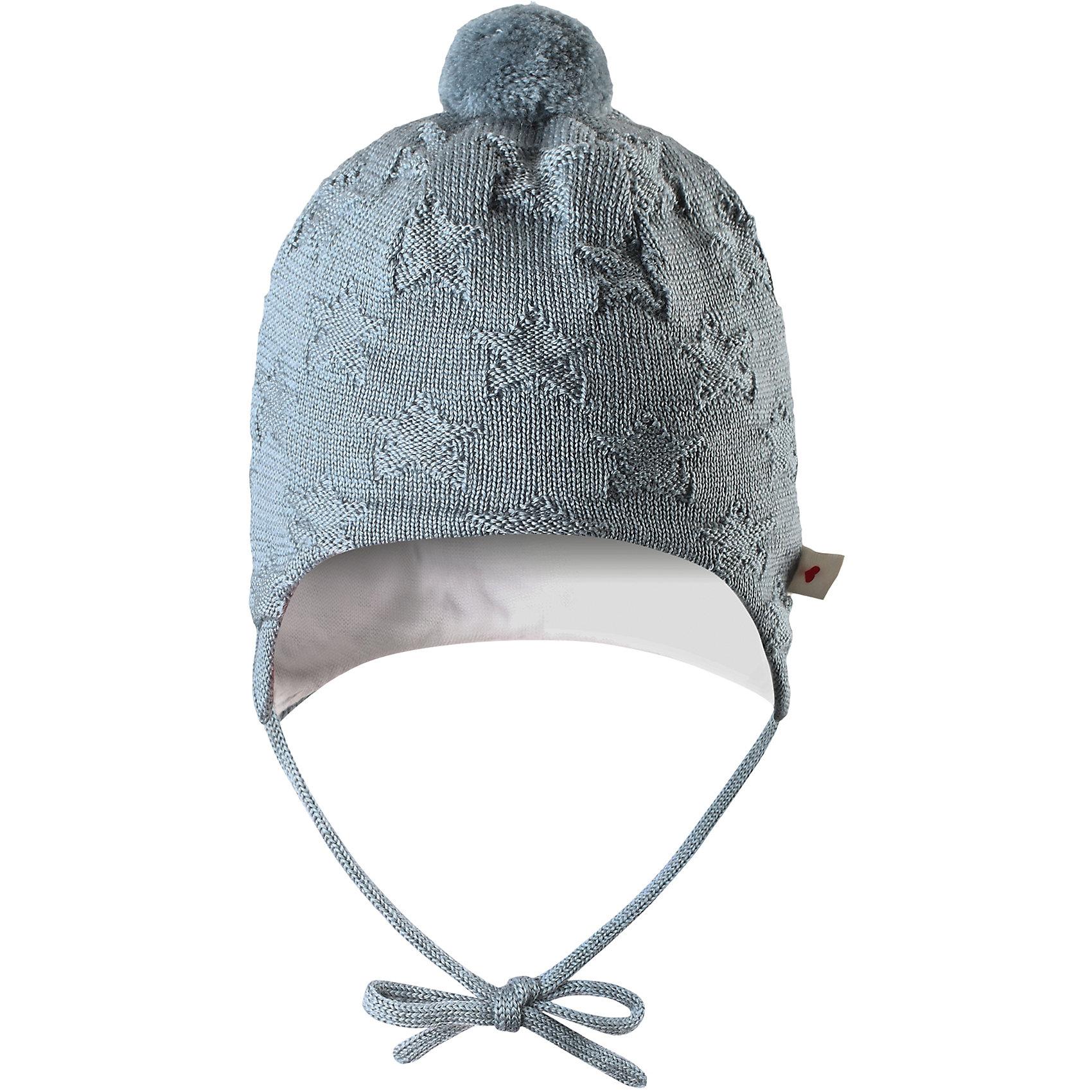 Шапка Lintu ReimaШапки и шарфы<br>Шапка  Reima<br>Шапка «Бини» для самых маленьких. Ткань из смеси мериносовой шерсти сохраняет тепло даже при намокании. Шерсть идеально поддерживает температуру. Теплая шерстяная вязка (волокно). Основной материал сертифицирован Oeko-Tex, класс 1, одежда для малышей. Любые размеры. Мягкая подкладка из хлопка и эластана. Задние швы отсутствуют. Логотип Reima® сбоку. Милый вязаный узор. Помпон сверху. Интересная структура поверхности.<br>Уход:<br>Стирать по отдельности, вывернув наизнанку. Придать первоначальную форму вo влажном виде. Возможна усадка 5 %.<br>Состав:<br>100% Шерсть<br><br>Ширина мм: 89<br>Глубина мм: 117<br>Высота мм: 44<br>Вес г: 155<br>Цвет: голубой<br>Возраст от месяцев: 2<br>Возраст до месяцев: 4<br>Пол: Унисекс<br>Возраст: Детский<br>Размер: 40-42,44-46,36-38<br>SKU: 4775556