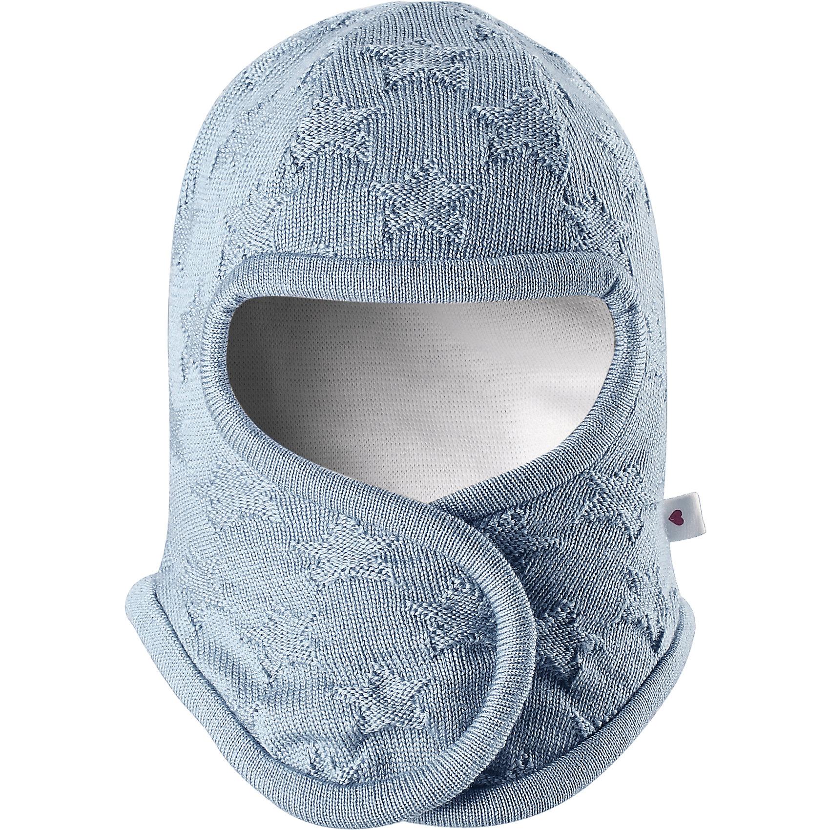 Шапка-шлем Littlest ReimaШапки и шарфы<br>Шапка  Reima<br>Шапка-шлем для самых маленьких. Ткань из смеси мериносовой шерсти сохраняет тепло даже при намокании. Шерсть идеально поддерживает температуру. Товар сертифицирован Oeko-Tex, класс 1, одежда для малышей. Мягкая подкладка из хлопка и эластанаЗадние швы отсутствуют. Застежка на липучке спереди. Логотип Reima® сбоку. Милый вязаный узор. Интересная структура поверхности.<br>Уход:<br>Стирать по отдельности, вывернув наизнанку. Придать первоначальную форму вo влажном виде. Возможна усадка 5 %.<br>Состав:<br>100% Шерсть<br><br>Ширина мм: 89<br>Глубина мм: 117<br>Высота мм: 44<br>Вес г: 155<br>Цвет: синий<br>Возраст от месяцев: 4<br>Возраст до месяцев: 6<br>Пол: Унисекс<br>Возраст: Детский<br>Размер: 44-46,34-36,40-42<br>SKU: 4775568