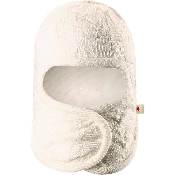 Шапка-шлем Littlest ReimaШапки и шарфы<br>Шапка  Reima<br>Шапка-шлем для самых маленьких. Ткань из смеси мериносовой шерсти сохраняет тепло даже при намокании. Шерсть идеально поддерживает температуру. Товар сертифицирован Oeko-Tex, класс 1, одежда для малышей. Мягкая подкладка из хлопка и эластанаЗадние швы отсутствуют. Застежка на липучке спереди. Логотип Reima® сбоку. Милый вязаный узор. Интересная структура поверхности.<br>Уход:<br>Стирать по отдельности, вывернув наизнанку. Придать первоначальную форму вo влажном виде. Возможна усадка 5 %.<br>Состав:<br>100% Шерсть<br><br>Ширина мм: 89<br>Глубина мм: 117<br>Высота мм: 44<br>Вес г: 155<br>Цвет: белый<br>Возраст от месяцев: 4<br>Возраст до месяцев: 6<br>Пол: Женский<br>Возраст: Детский<br>Размер: 44-46,40-42,36-38<br>SKU: 4775571
