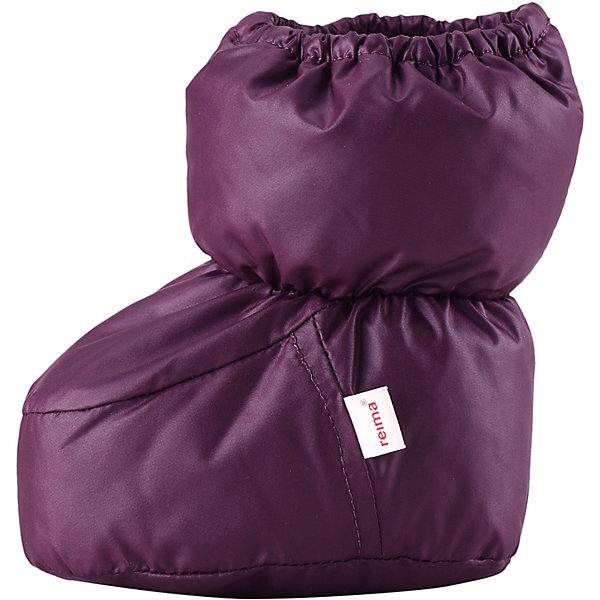 Пинетки Uskallus для девочки ReimaПинетки и царапки<br>Пинетки  Reima<br>Пинетки для самых маленьких. Водоотталкивающий, ветронепроницаемый и «дышащий» материал. Мягкая подкладка из хлопка и эластана. Легкая степень утепления. Логотип Reima® сбоку.<br>Утеплитель: Reima® Comfortinsulation,80 g<br>Уход:<br>Стирать с бельем одинакового цвета, вывернув наизнанку. Стирать моющим средством, не содержащим отбеливающие вещества. Полоскать без специального средства. Сушить при низкой температуре. <br>Состав:<br>100% Полиэстер<br>Ширина мм: 162; Глубина мм: 171; Высота мм: 55; Вес г: 119; Цвет: лиловый; Возраст от месяцев: 0; Возраст до месяцев: 12; Пол: Женский; Возраст: Детский; Размер: 0,1; SKU: 4775646;