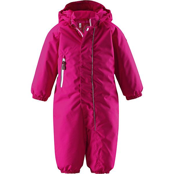 Комбинезон Overall для девочки ReimaВерхняя одежда<br>Комбинезон  Reima<br>Зимний комбинезон для малышей. Основные швы проклеены и не пропускают влагу. Водо- и ветронепроницаемый, «дышащий» и грязеотталкивающий материал. Утепленная задняя часть изделия.Гладкая подкладка из полиэстраБезопасный, съемный капюшон. Эластичные манжеты. Эластичный пояс сзади. Эластичные штанины. Съемные эластичные штрипки. Длинная молния для легкого одевания. Карман на молнии. Безопасные светоотражающие детали.<br>Утеплитель: Reima® Soft Loft insulation,160 g<br>Уход:<br>Стирать по отдельности, вывернув наизнанку. Застегнуть молнии и липучки. Стирать моющим средством, не содержащим отбеливающие вещества. Полоскать без специального средства. Во избежание изменения цвета изделие необходимо вынуть из стиральной машинки незамедлительно после окончания программы стирки. Сушить при низкой температуре.<br>Состав:<br>100% Полиамид, полиуретановое покрытие<br>Ширина мм: 387; Глубина мм: 360; Высота мм: 109; Вес г: 679; Цвет: розовый; Возраст от месяцев: 18; Возраст до месяцев: 36; Пол: Женский; Возраст: Детский; Размер: 98,92,80,86,74; SKU: 4775752;
