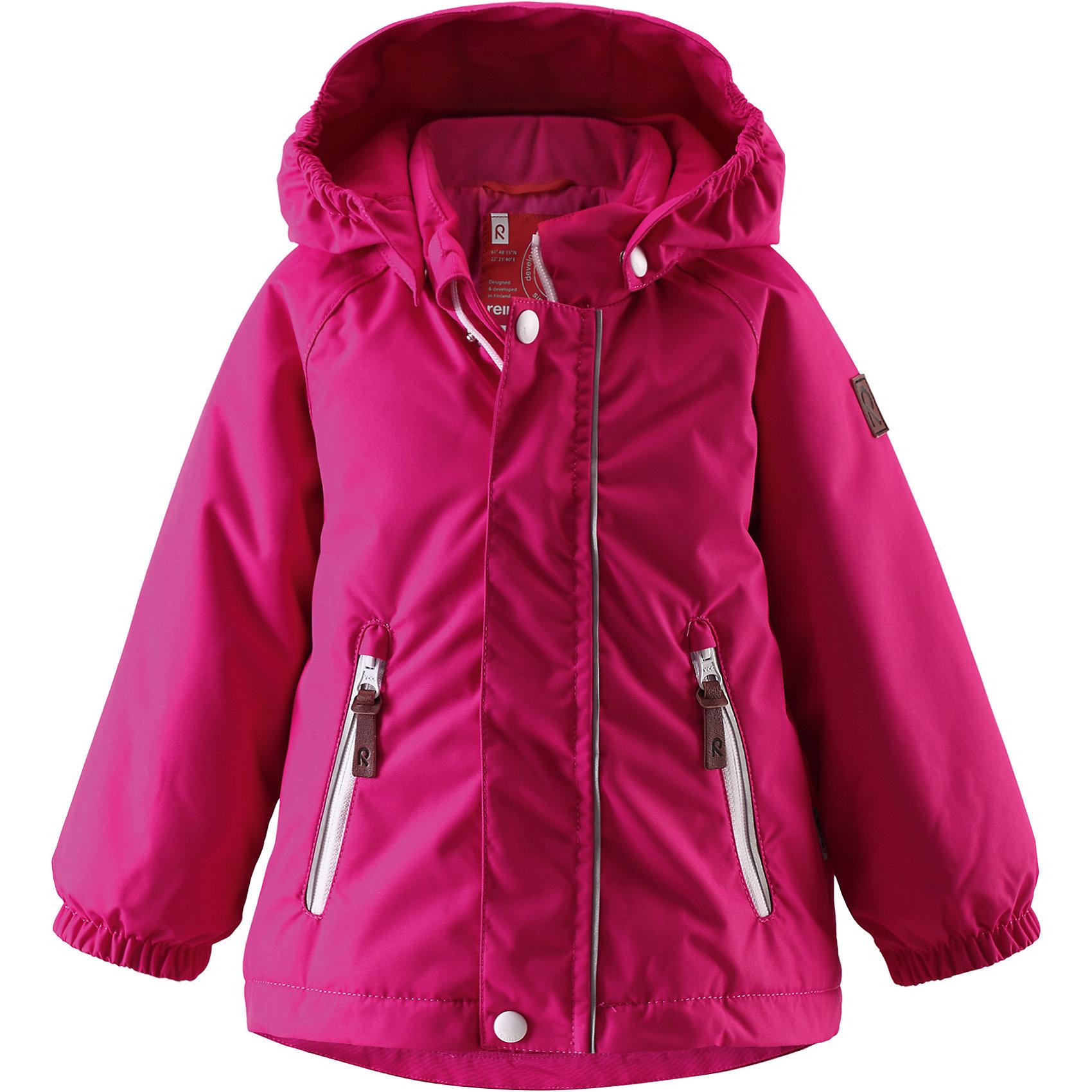 Куртка Shed для девочки ReimaВерхняя одежда<br>Куртка  Reima<br>Зимняя куртка для малышей. Основные швы проклеены и не пропускают влагу. Водо- и ветронепроницаемый, «дышащий» и грязеотталкивающий материал. Гладкая подкладка из полиэстра. Безопасный, съемный капюшон. Эластичные манжеты. Два кармана на молнии. Безопасные светоотражающие детали.<br>Утеплитель: Reima® Soft Loft insulation,160 g<br>Уход:<br>Стирать по отдельности, вывернув наизнанку. Застегнуть молнии и липучки. Стирать моющим средством, не содержащим отбеливающие вещества. Полоскать без специального средства. Во избежание изменения цвета изделие необходимо вынуть из стиральной машинки незамедлительно после окончания программы стирки. Сушить при низкой температуре.<br>Состав:<br>100% Полиамид, полиуретановое покрытие<br><br>Ширина мм: 455<br>Глубина мм: 368<br>Высота мм: 99<br>Вес г: 438<br>Цвет: розовый<br>Возраст от месяцев: 9<br>Возраст до месяцев: 12<br>Пол: Женский<br>Возраст: Детский<br>Размер: 80,98,92,86<br>SKU: 4776001