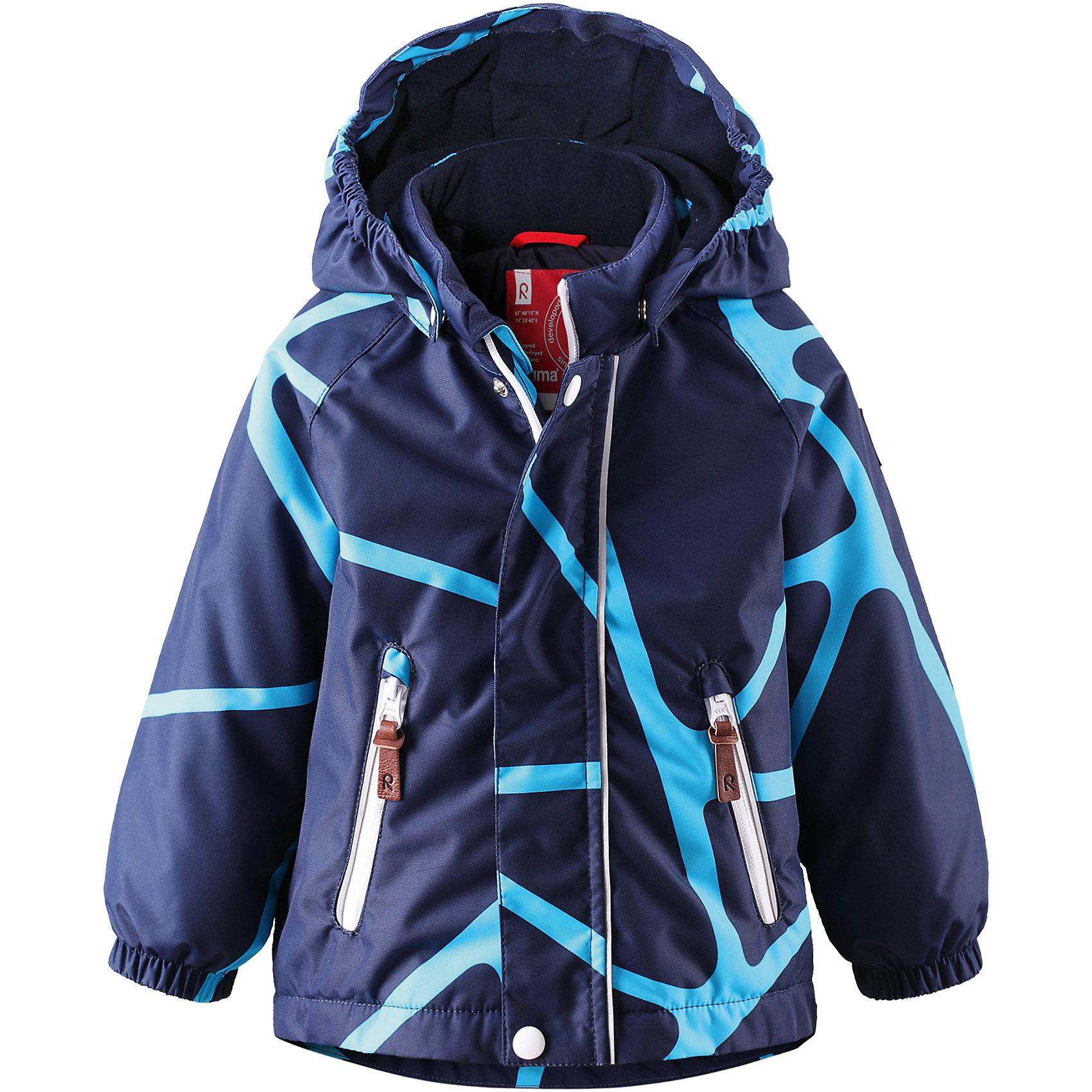 Куртка Seurue для мальчика ReimaВерхняя одежда<br>Куртка  Reima<br>Зимняя куртка для малышей. Основные швы проклеены и не пропускают влагу. Водо- и ветронепроницаемый, «дышащий» и грязеотталкивающий материал. Гладкая подкладка из полиэстра. Безопасный, съемный капюшон. Эластичные манжеты. Два кармана на молнии. Безопасные светоотражающие детали.<br>Утеплитель: Reima® Soft Loft insulation,160 g<br>Уход:<br>Стирать по отдельности, вывернув наизнанку. Застегнуть молнии и липучки. Стирать моющим средством, не содержащим отбеливающие вещества. Полоскать без специального средства. Во избежание изменения цвета изделие необходимо вынуть из стиральной машинки незамедлительно после окончания программы стирки. Сушить при низкой температуре.<br>Состав:<br>100% Полиамид, полиуретановое покрытие<br><br>Ширина мм: 356<br>Глубина мм: 10<br>Высота мм: 245<br>Вес г: 519<br>Цвет: синий<br>Возраст от месяцев: 12<br>Возраст до месяцев: 18<br>Пол: Мужской<br>Возраст: Детский<br>Размер: 86,98,80,92<br>SKU: 4776011