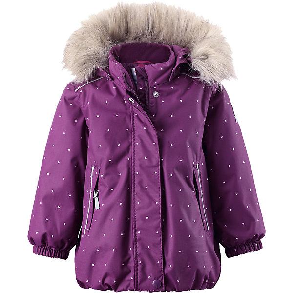 Куртка Muhvi для девочки Reimatec® ReimaОдежда<br>Куртка для девочки Reimatec® Reima<br>Зимняя куртка для малышей. Все швы проклеены и водонепроницаемы. Водо- и ветронепроницаемый, «дышащий» и грязеотталкивающий материал. Крой для девочек. Гладкая подкладка из полиэстра. Безопасный съемный капюшон с отсоединяемой меховой каймой из искусственного меха. .Эластичный пояс сзад иЭластичные подол и манжеты. Регулируемый подол. Два кармана на молнии. Принт по всей поверхности. Безопасные светоотражающие детали.<br>Утеплитель: Reima® Soft Loft insulation,160 g<br>Уход:<br>Стирать по отдельности, вывернув наизнанку. Перед стиркой отстегните искусственный мех. Застегнуть молнии и липучки. Стирать моющим средством, не содержащим отбеливающие вещества. Полоскать без специального средства. Во избежание изменения цвета изделие необходимо вынуть из стиральной машинки незамедлительно после окончания программы стирки. Можно сушить в сушильном шкафу или центрифуге (макс. 40° C).<br>Состав:<br>100% Полиамид, полиуретановое покрытие<br>Ширина мм: 464; Глубина мм: 340; Высота мм: 53; Вес г: 585; Цвет: лиловый; Возраст от месяцев: 12; Возраст до месяцев: 18; Пол: Женский; Возраст: Детский; Размер: 86,92,98,80; SKU: 4776016;