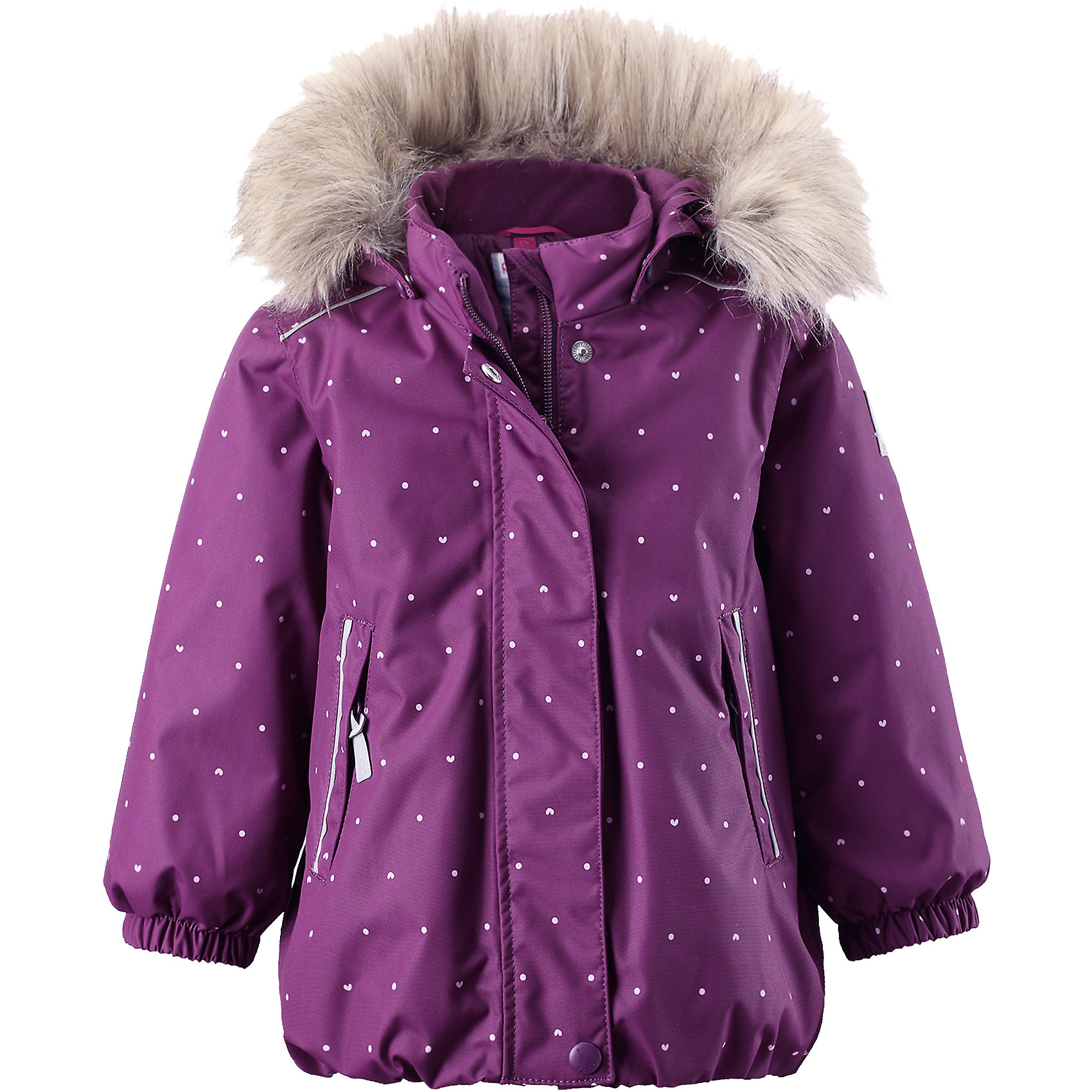 Куртка Muhvi для девочки Reimatec® ReimaОдежда<br>Куртка для девочки Reimatec® Reima<br>Зимняя куртка для малышей. Все швы проклеены и водонепроницаемы. Водо- и ветронепроницаемый, «дышащий» и грязеотталкивающий материал. Крой для девочек. Гладкая подкладка из полиэстра. Безопасный съемный капюшон с отсоединяемой меховой каймой из искусственного меха. .Эластичный пояс сзад иЭластичные подол и манжеты. Регулируемый подол. Два кармана на молнии. Принт по всей поверхности. Безопасные светоотражающие детали.<br>Утеплитель: Reima® Soft Loft insulation,160 g<br>Уход:<br>Стирать по отдельности, вывернув наизнанку. Перед стиркой отстегните искусственный мех. Застегнуть молнии и липучки. Стирать моющим средством, не содержащим отбеливающие вещества. Полоскать без специального средства. Во избежание изменения цвета изделие необходимо вынуть из стиральной машинки незамедлительно после окончания программы стирки. Можно сушить в сушильном шкафу или центрифуге (макс. 40° C).<br>Состав:<br>100% Полиамид, полиуретановое покрытие<br><br>Ширина мм: 426<br>Глубина мм: 347<br>Высота мм: 104<br>Вес г: 554<br>Цвет: лиловый<br>Возраст от месяцев: 9<br>Возраст до месяцев: 12<br>Пол: Женский<br>Возраст: Детский<br>Размер: 80,86,92,98<br>SKU: 4776016