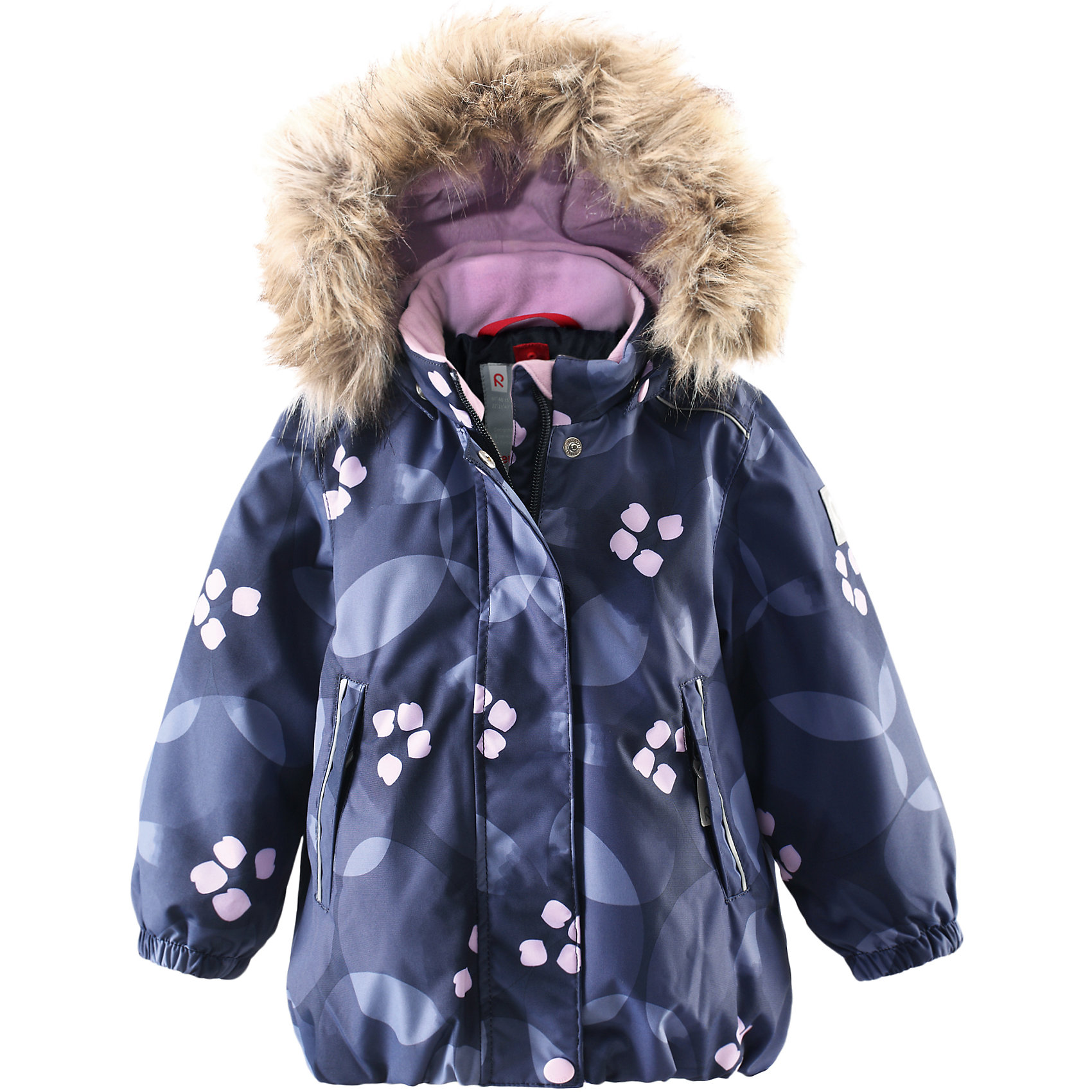 Куртка Muhvi для девочки Reimatec® ReimaОдежда<br>Куртка для девочки Reimatec® Reima<br>Зимняя куртка для малышей. Все швы проклеены и водонепроницаемы. Водо- и ветронепроницаемый, «дышащий» и грязеотталкивающий материал. Крой для девочек. Гладкая подкладка из полиэстра. Безопасный съемный капюшон с отсоединяемой меховой каймой из искусственного меха. .Эластичный пояс сзад иЭластичные подол и манжеты. Регулируемый подол. Два кармана на молнии. Принт по всей поверхности. Безопасные светоотражающие детали.<br>Утеплитель: Reima® Soft Loft insulation,160 g<br>Уход:<br>Стирать по отдельности, вывернув наизнанку. Перед стиркой отстегните искусственный мех. Застегнуть молнии и липучки. Стирать моющим средством, не содержащим отбеливающие вещества. Полоскать без специального средства. Во избежание изменения цвета изделие необходимо вынуть из стиральной машинки незамедлительно после окончания программы стирки. Можно сушить в сушильном шкафу или центрифуге (макс. 40° C).<br>Состав:<br>100% Полиамид, полиуретановое покрытие<br><br>Ширина мм: 356<br>Глубина мм: 10<br>Высота мм: 245<br>Вес г: 519<br>Цвет: синий<br>Возраст от месяцев: 24<br>Возраст до месяцев: 36<br>Пол: Женский<br>Возраст: Детский<br>Размер: 98,80,92,86<br>SKU: 4776021
