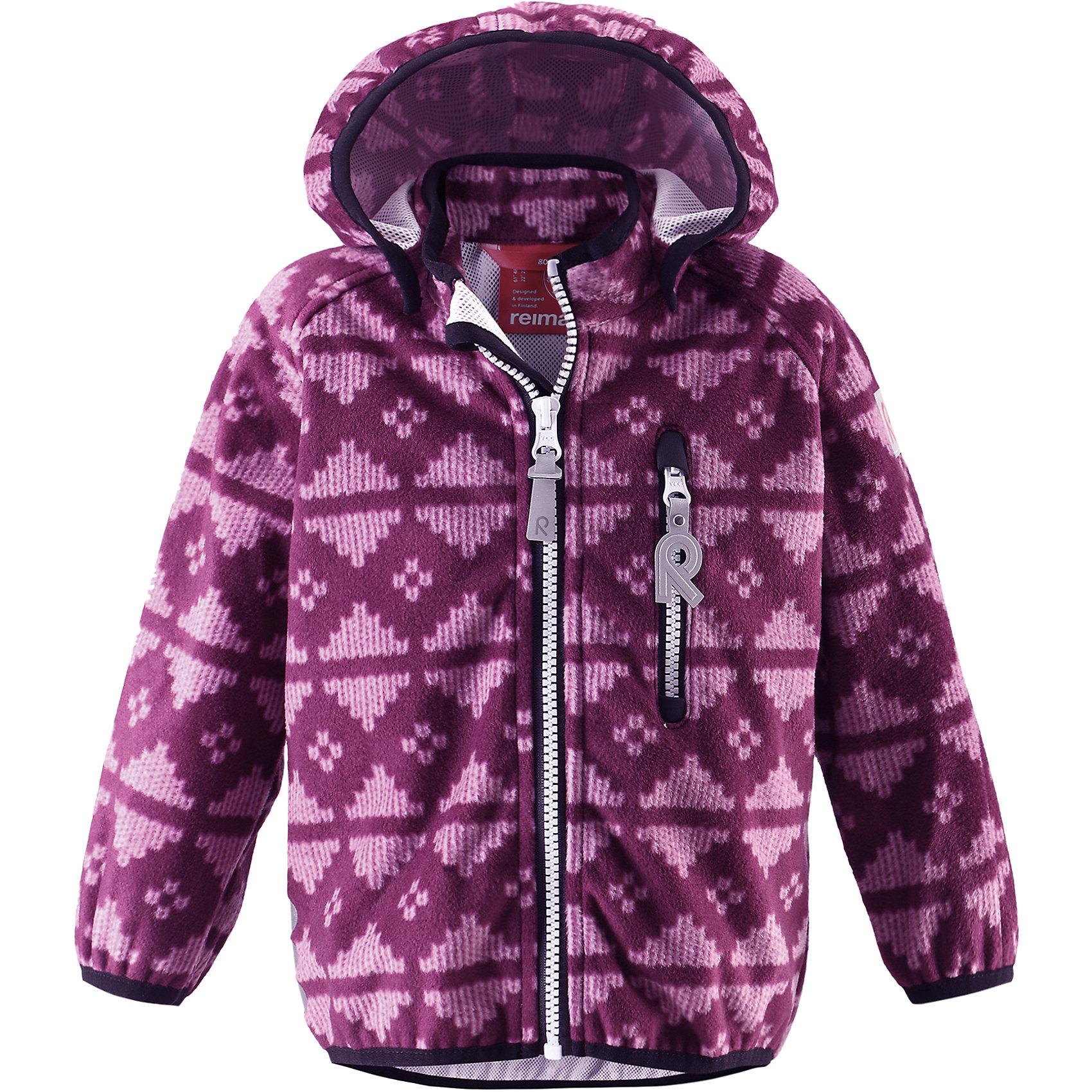 Куртка Aie для девочки ReimaКуртка  Reima<br>Куртка из материала softshell для малышей. Из ветронепроницаемого материала, но изделие «дышит». Безопасный, съемный капюшон. Эластичная резинка на кромке капюшона, манжетах и подоле. Нагрудный карман на молнии. Принт по всей поверхности.<br>Уход:<br>Стирать по отдельности. Застегнуть молнии и липучки. Стирать моющим средством, не содержащим отбеливающие вещества. Полоскать без специального средства. Во избежание изменения цвета изделие необходимо вынуть из стиральной машинки незамедлительно после окончания программы стирки. Сушить при низкой температуре.<br>Состав:<br>100% Полиэстер, полиуретановая мембрана<br><br>Ширина мм: 356<br>Глубина мм: 10<br>Высота мм: 245<br>Вес г: 519<br>Цвет: фиолетовый<br>Возраст от месяцев: 24<br>Возраст до месяцев: 36<br>Пол: Женский<br>Возраст: Детский<br>Размер: 98,92,86,80<br>SKU: 4776036