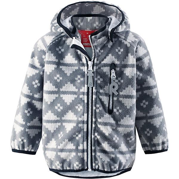 Куртка Aie ReimaВерхняя одежда<br>Куртка  Reima<br>Куртка из материала softshell для малышей. Из ветронепроницаемого материала, но изделие «дышит». Безопасный, съемный капюшон. Эластичная резинка на кромке капюшона, манжетах и подоле. Нагрудный карман на молнии. Принт по всей поверхности.<br>Уход:<br>Стирать по отдельности. Застегнуть молнии и липучки. Стирать моющим средством, не содержащим отбеливающие вещества. Полоскать без специального средства. Во избежание изменения цвета изделие необходимо вынуть из стиральной машинки незамедлительно после окончания программы стирки. Сушить при низкой температуре.<br>Состав:<br>100% Полиэстер, полиуретановая мембрана<br><br>Ширина мм: 356<br>Глубина мм: 10<br>Высота мм: 245<br>Вес г: 519<br>Цвет: серый<br>Возраст от месяцев: 12<br>Возраст до месяцев: 18<br>Пол: Унисекс<br>Возраст: Детский<br>Размер: 86,80,92,98<br>SKU: 4776041