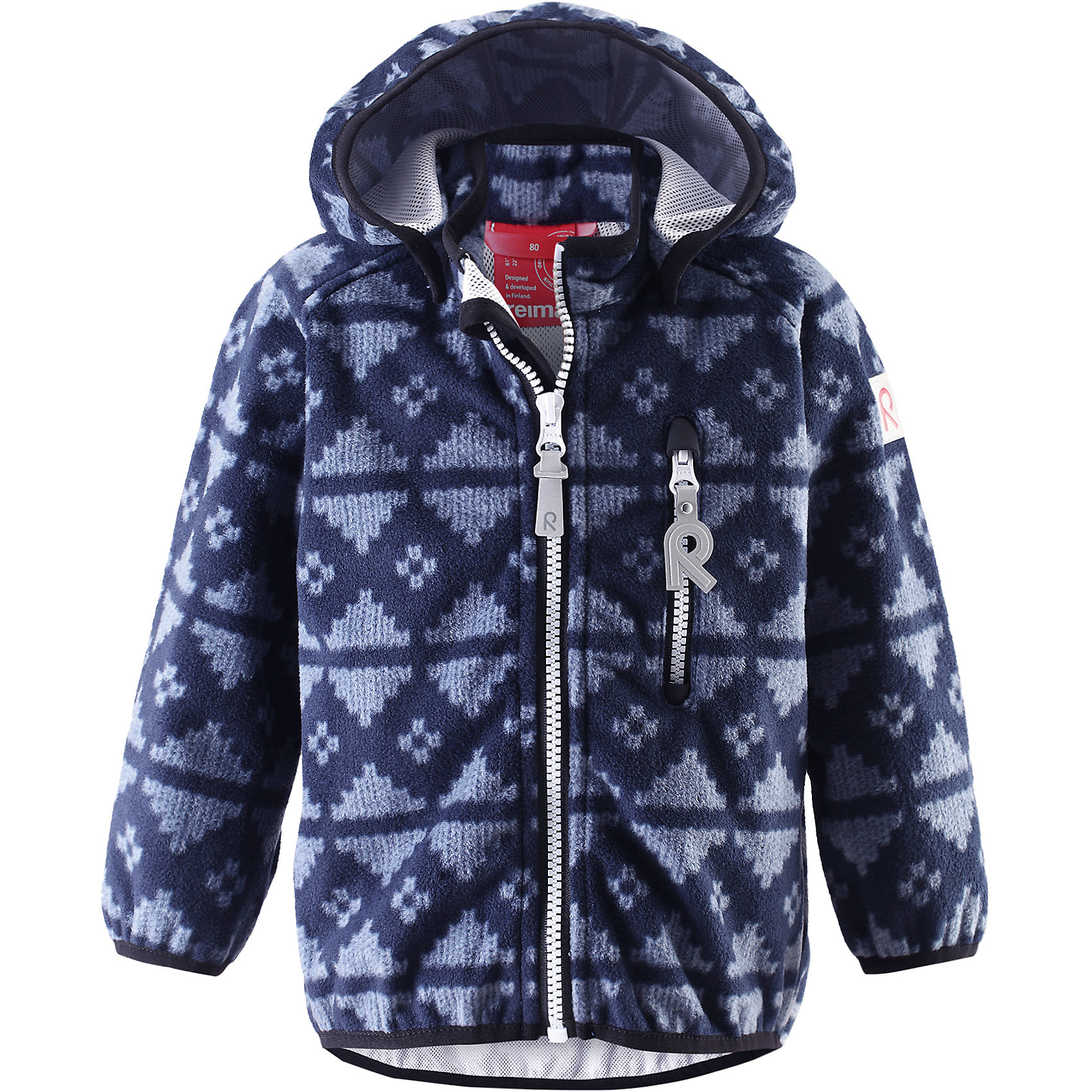 Куртка Aie ReimaКуртка  Reima<br>Куртка из материала softshell для малышей. Из ветронепроницаемого материала, но изделие «дышит». Безопасный, съемный капюшон. Эластичная резинка на кромке капюшона, манжетах и подоле. Нагрудный карман на молнии. Принт по всей поверхности.<br>Уход:<br>Стирать по отдельности. Застегнуть молнии и липучки. Стирать моющим средством, не содержащим отбеливающие вещества. Полоскать без специального средства. Во избежание изменения цвета изделие необходимо вынуть из стиральной машинки незамедлительно после окончания программы стирки. Сушить при низкой температуре.<br>Состав:<br>100% Полиэстер, полиуретановая мембрана<br><br>Ширина мм: 356<br>Глубина мм: 10<br>Высота мм: 245<br>Вес г: 519<br>Цвет: синий<br>Возраст от месяцев: 12<br>Возраст до месяцев: 18<br>Пол: Унисекс<br>Возраст: Детский<br>Размер: 86,92,98,80<br>SKU: 4776046