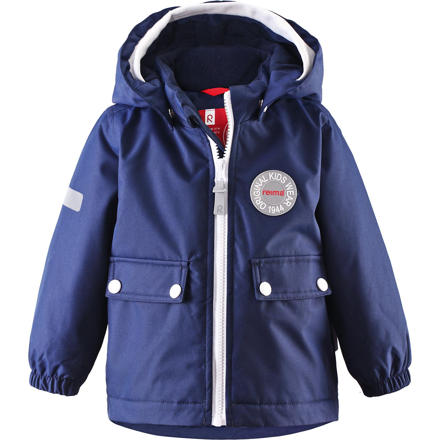 Куртка Quilt для мальчика ReimaОдежда<br>Куртка  Reima<br>Зимняя куртка для малышей. Основные швы проклеены и не пропускают влагу. Водоотталкивающий, ветронепроницаемый, «дышащий» и грязеотталкивающий материал. Теплая стеганая подкладка. Безопасный, съемный капюшон. Мягкая резинка на кромке капюшона. Эластичные манжеты. Удлиненный подол сзади. Два кармана с клапанами. Безопасные светоотражающие детали.<br>Утеплитель: Reima® Soft Loft insulation,160 g<br>Уход:<br>Стирать по отдельности, вывернув наизнанку. Застегнуть молнии и липучки. Стирать моющим средством, не содержащим отбеливающие вещества. Полоскать без специального средства. Во избежание изменения цвета изделие необходимо вынуть из стиральной машинки незамедлительно после окончания программы стирки. Сушить при низкой температуре.<br>Состав:<br>100% Полиамид, полиуретановое покрытие<br><br>Ширина мм: 356<br>Глубина мм: 10<br>Высота мм: 245<br>Вес г: 519<br>Цвет: синий<br>Возраст от месяцев: 9<br>Возраст до месяцев: 12<br>Пол: Мужской<br>Возраст: Детский<br>Размер: 80,98,86,92<br>SKU: 4776056