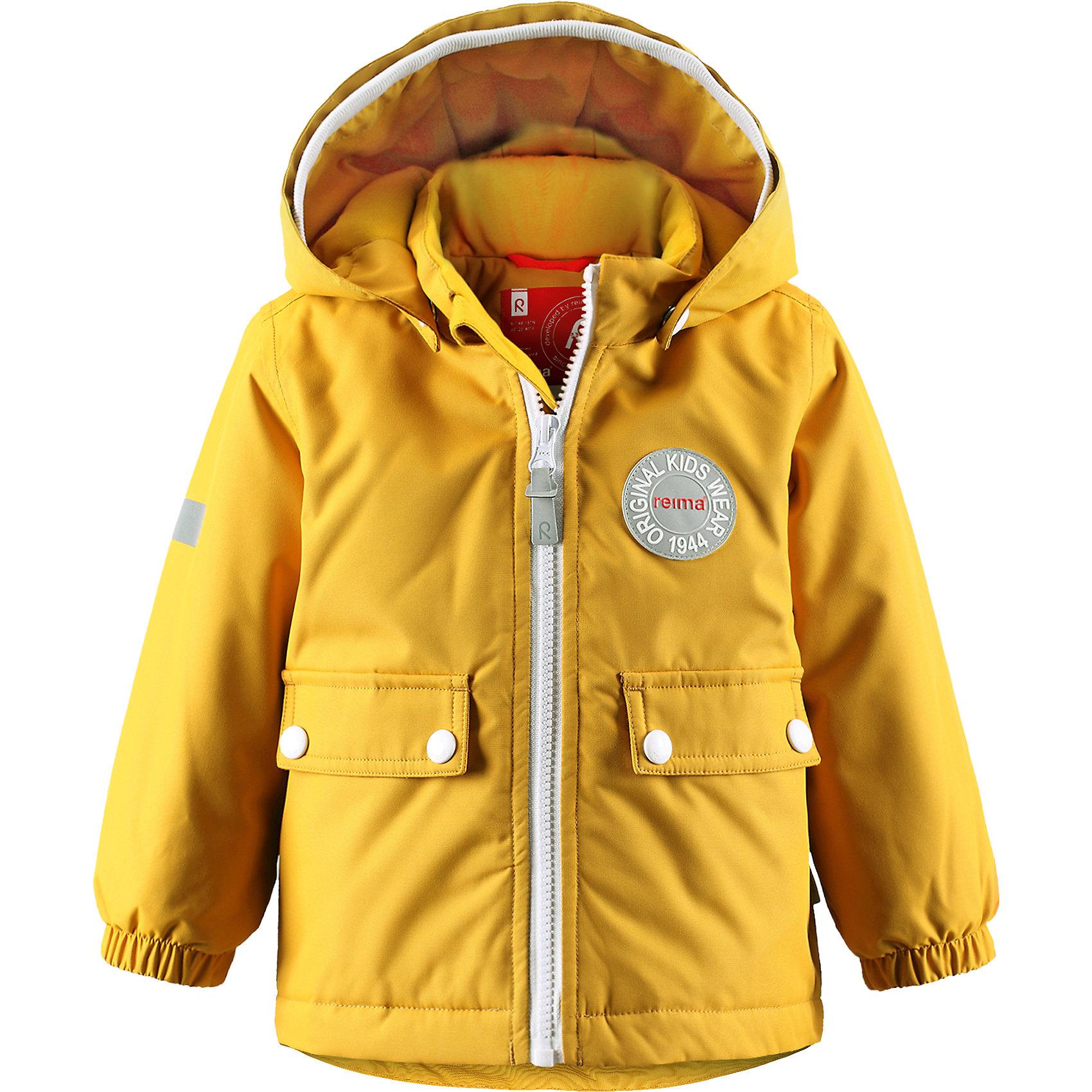 Куртка Quilt ReimaКуртка  Reima<br>Зимняя куртка для малышей. Основные швы проклеены и не пропускают влагу. Водоотталкивающий, ветронепроницаемый, «дышащий» и грязеотталкивающий материал. Теплая стеганая подкладка. Безопасный, съемный капюшон. Мягкая резинка на кромке капюшона. Эластичные манжеты. Удлиненный подол сзади. Два кармана с клапанами. Безопасные светоотражающие детали.<br>Утеплитель: Reima® Soft Loft insulation,160 g<br>Уход:<br>Стирать по отдельности, вывернув наизнанку. Застегнуть молнии и липучки. Стирать моющим средством, не содержащим отбеливающие вещества. Полоскать без специального средства. Во избежание изменения цвета изделие необходимо вынуть из стиральной машинки незамедлительно после окончания программы стирки. Сушить при низкой температуре.<br>Состав:<br>100% Полиамид, полиуретановое покрытие<br><br>Ширина мм: 356<br>Глубина мм: 10<br>Высота мм: 245<br>Вес г: 519<br>Цвет: желтый<br>Возраст от месяцев: 18<br>Возраст до месяцев: 24<br>Пол: Унисекс<br>Возраст: Детский<br>Размер: 92,80,86,98<br>SKU: 4776061
