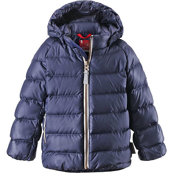 Куртка Minst ReimaОдежда<br>Куртка  Reima<br>Пуховая куртка для малышей. Водоотталкивающий, ветронепроницаемый, «дышащий» и грязеотталкивающий материал. Гладкая подкладка из полиэстра. В качестве утеплителя использованы пух и перо (60%/40%). Безопасный, съемный капюшон. Эластичные подол и манжеты. Карман на молнии. Безопасные светоотражающие элементы.<br>Уход:<br>Стирать по отдельности, вывернув наизнанку. Застегнуть молнии и липучки. Стирать моющим средством, не содержащим отбеливающие вещества. Полоскать без специального средства. Во избежание изменения цвета изделие необходимо вынуть из стиральной машинки незамедлительно после окончания программы стирки. Барабанное сушение при низкой температуре с 3 теннисными мячиками. Выверните изделие наизнанку в середине сушки.<br>Состав:<br>100% Полиэстер<br>Ширина мм: 356; Глубина мм: 10; Высота мм: 245; Вес г: 519; Цвет: синий; Возраст от месяцев: 9; Возраст до месяцев: 12; Пол: Мужской; Возраст: Детский; Размер: 80,86,98,74,92; SKU: 4776066;